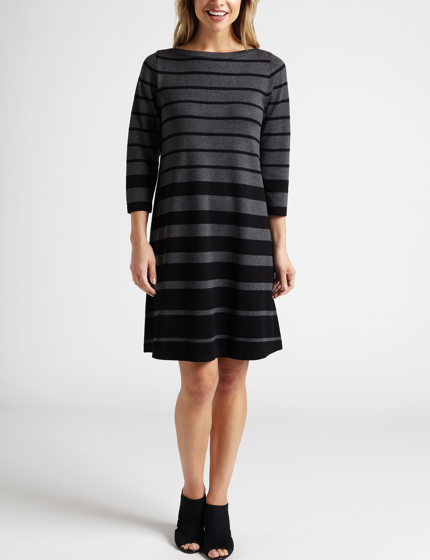 AGB Charcoal Everyday & Casual Sweater Dresses
