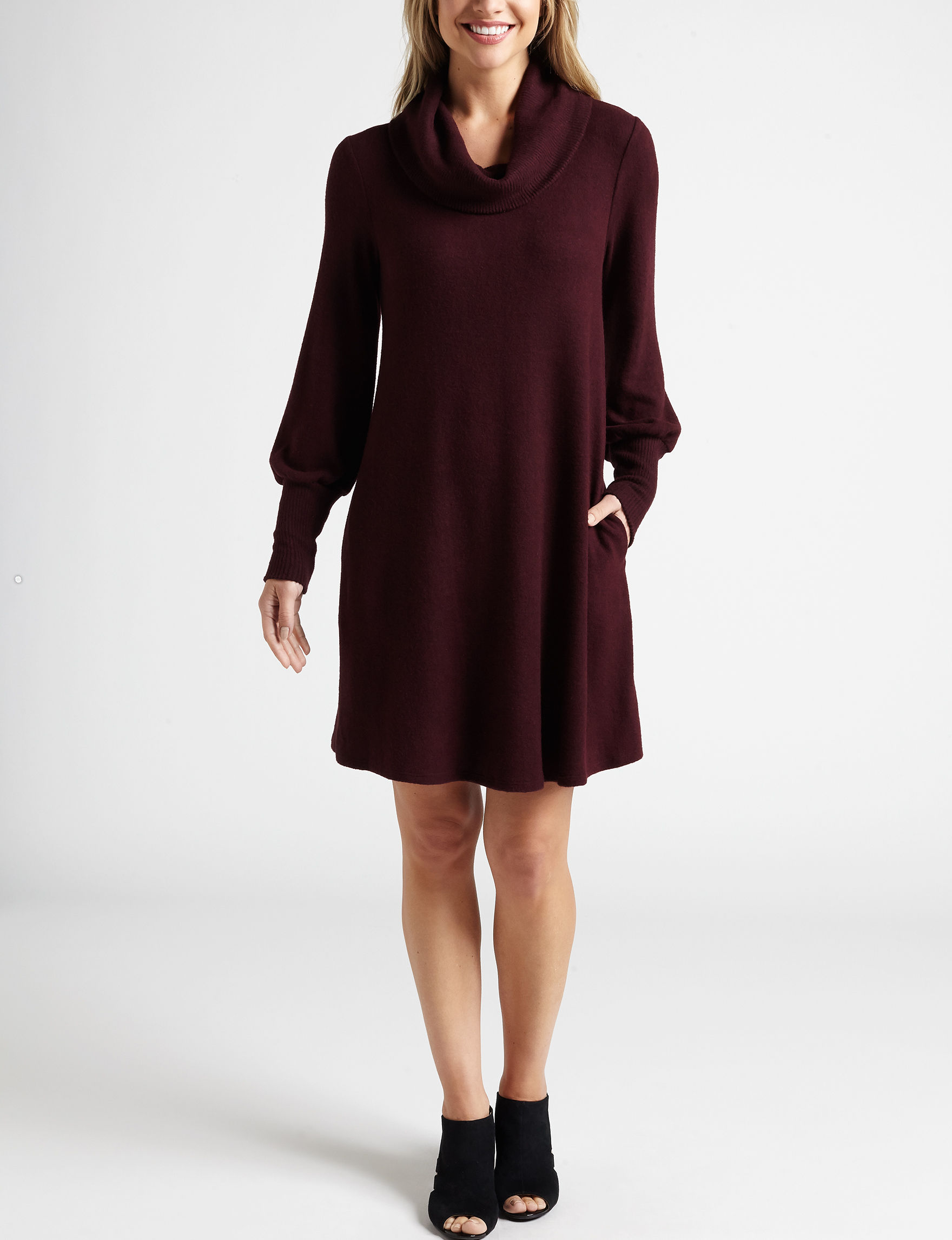 A. Byer Plum Everyday & Casual Sweater Dresses