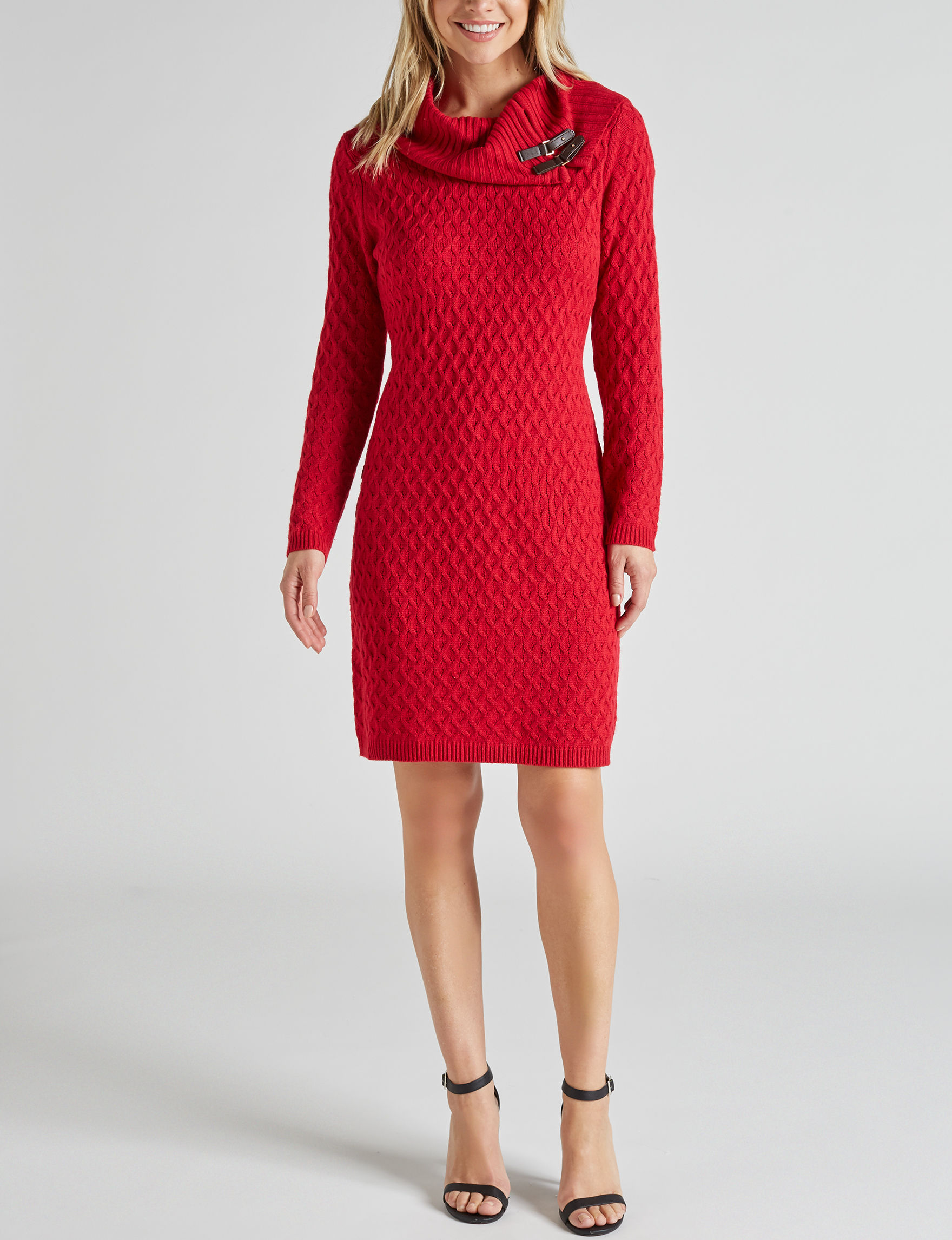 Studio One Red Everyday & Casual Sweater Dresses