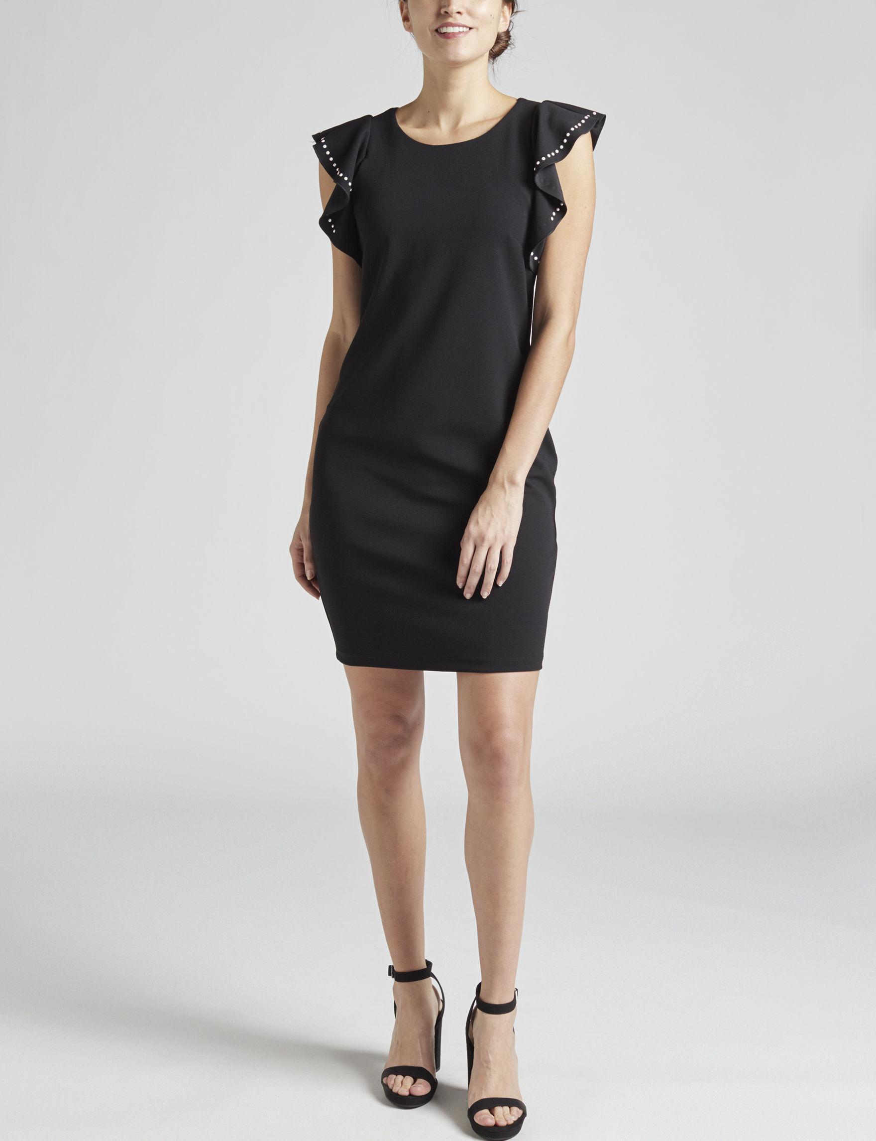 Bebe Black Cocktail & Party Evening & Formal Sheath Dresses