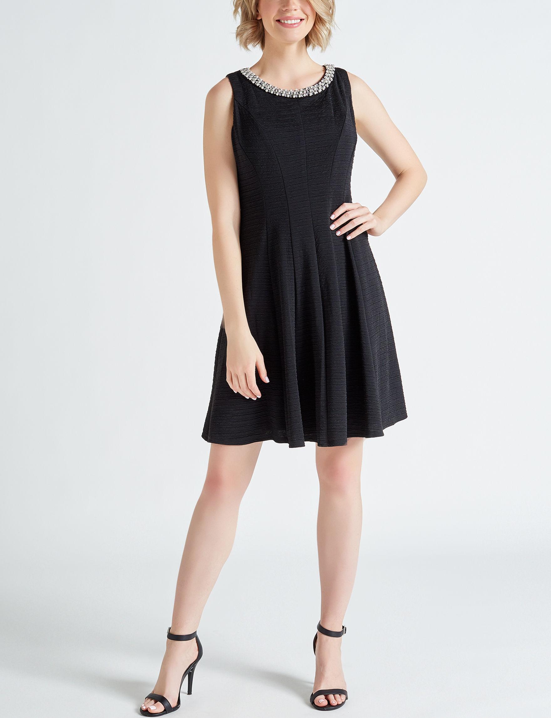 Sandra Darren Black Cocktail & Party Evening & Formal A-line Dresses
