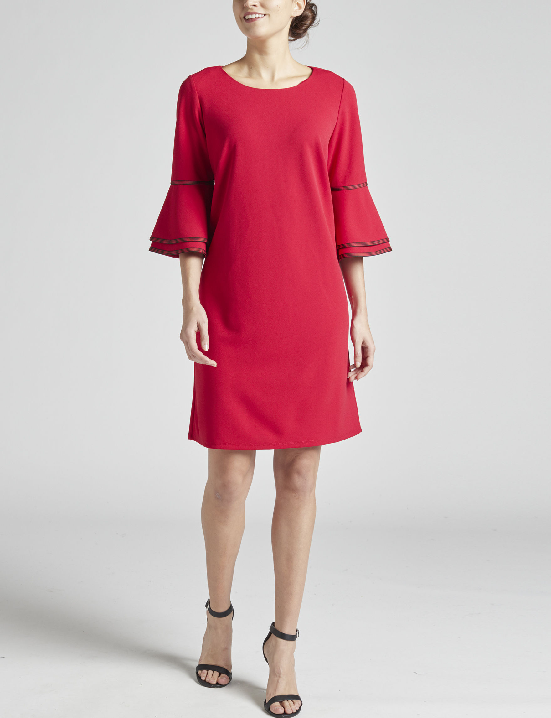 Sharagano Red Everyday & Casual Shift Dresses