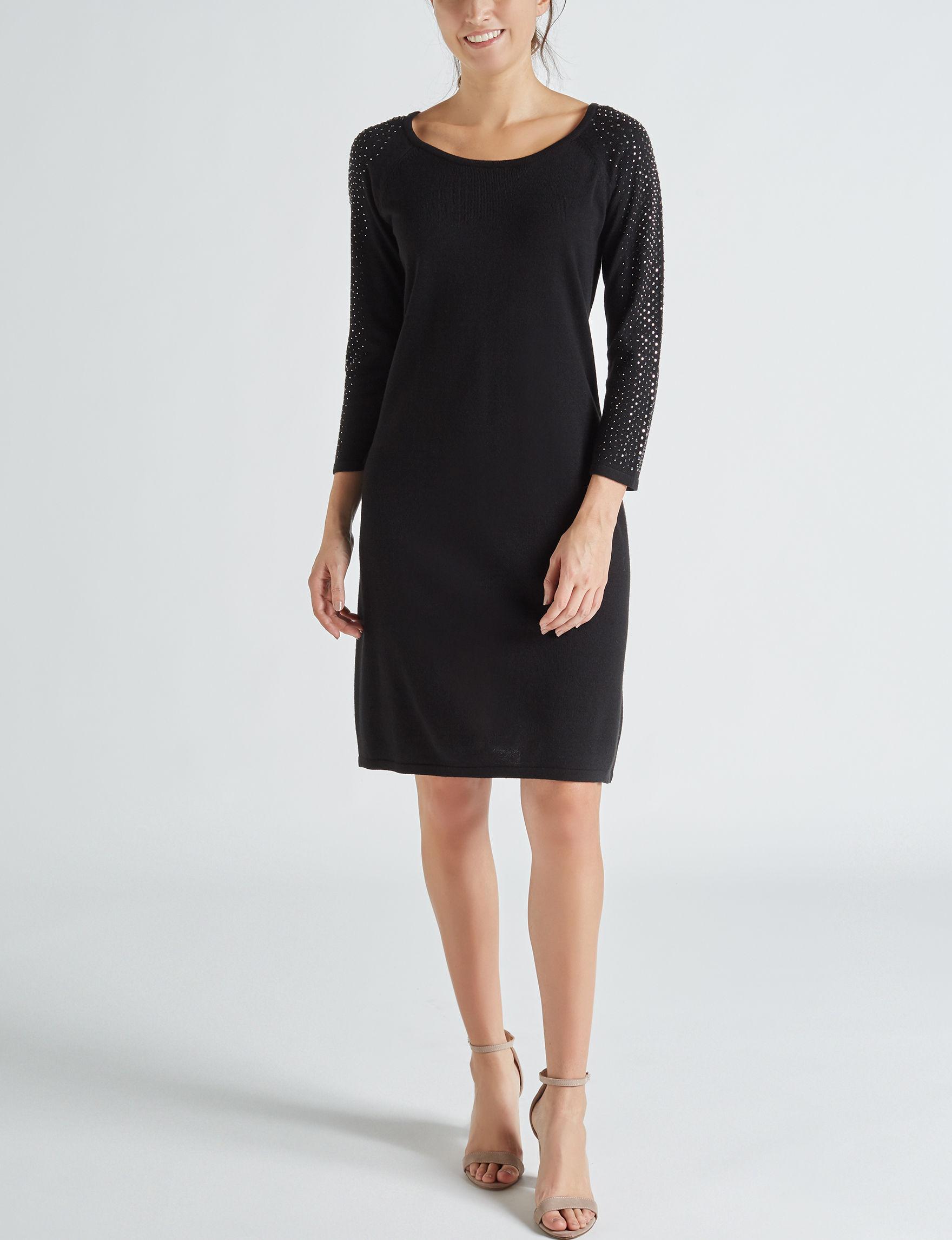 Studio One Black Everyday & Casual Sweater Dresses