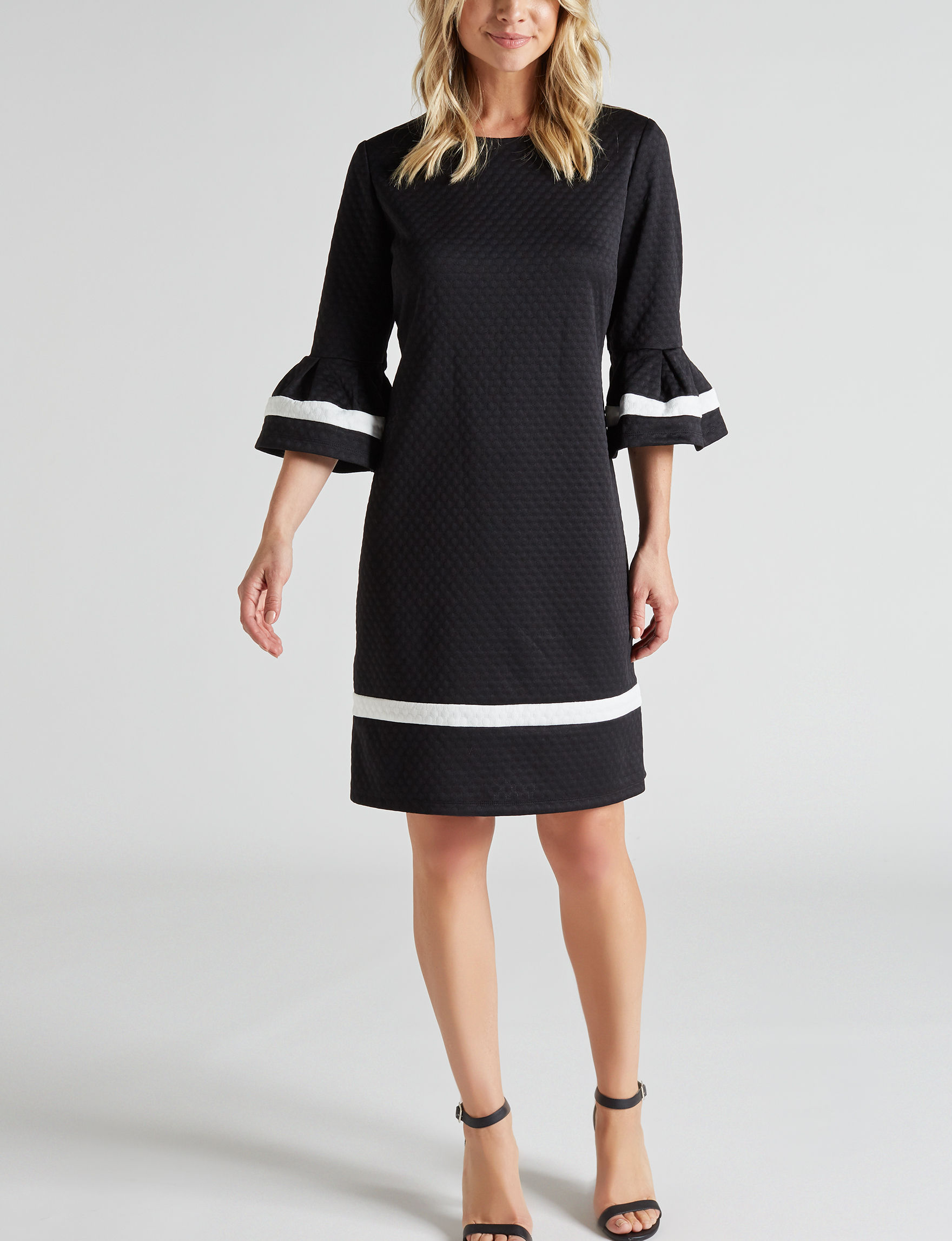 Ronni Nicole Black Everyday & Casual A-line Dresses Fit & Flare Dresses