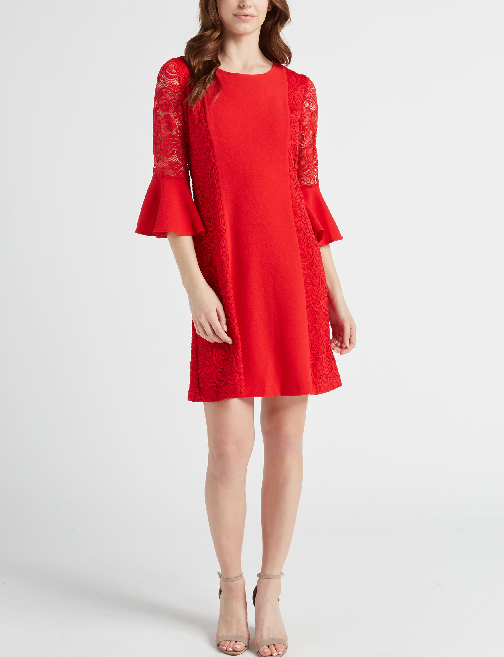 Studio One Red Everyday & Casual Fit & Flare Dresses