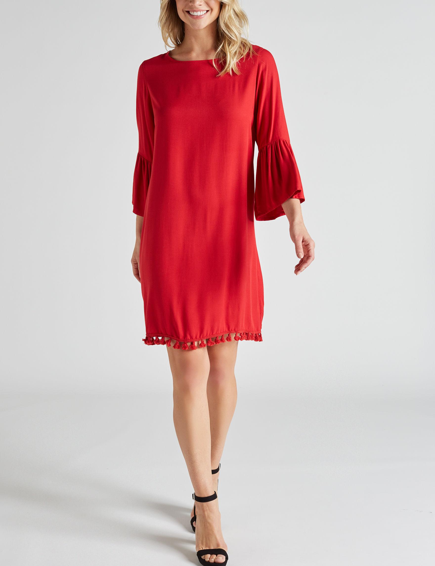 Signature Studio Red Everyday & Casual Shift Dresses