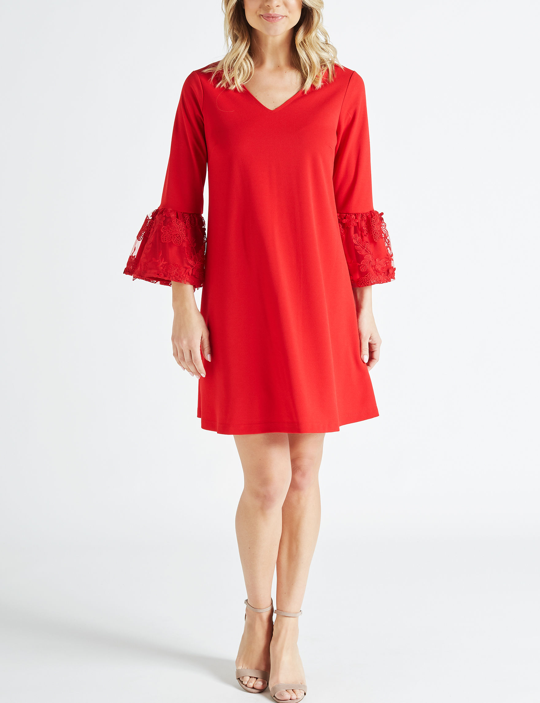 Robbie Bee Red Everyday & Casual Shift Dresses