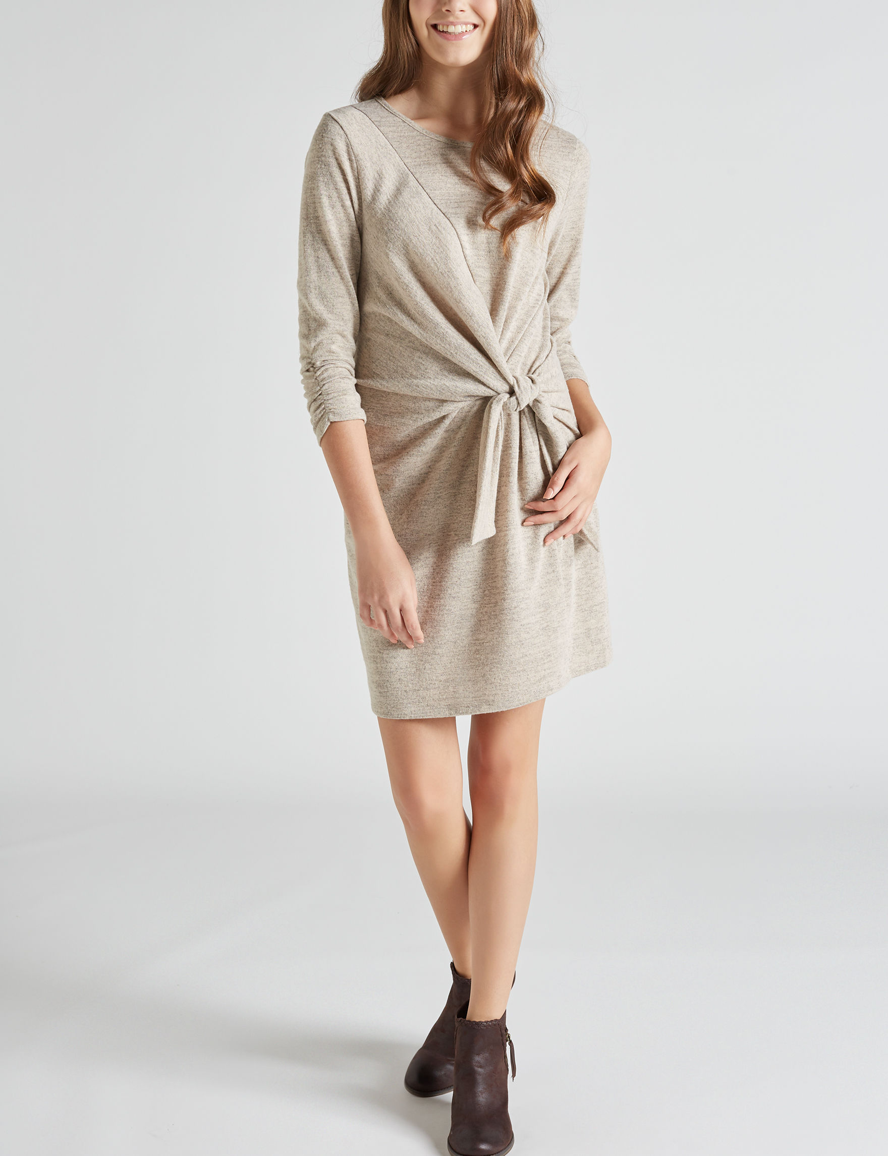 Bailey Blue Tan Everyday & Casual Sweater Dresses