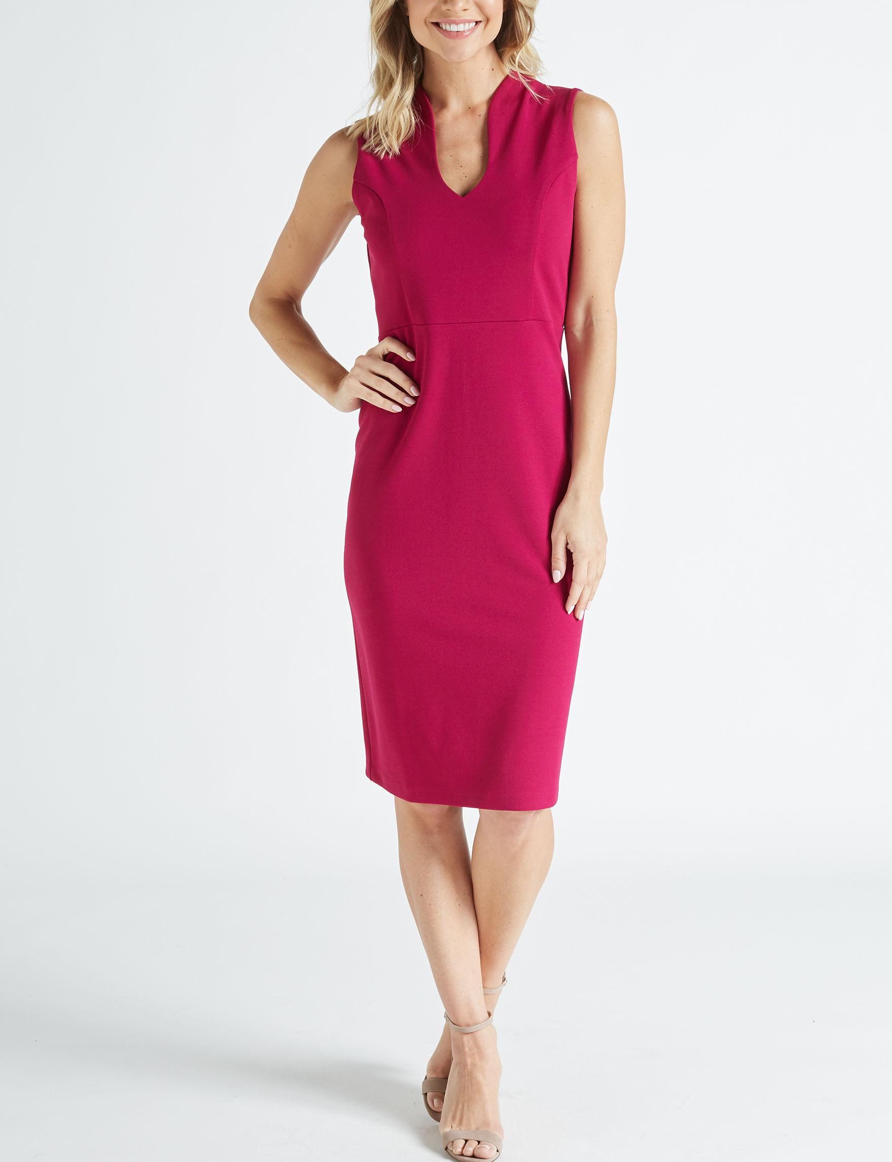 Nina Leonard Red Everyday & Casual Sheath Dresses