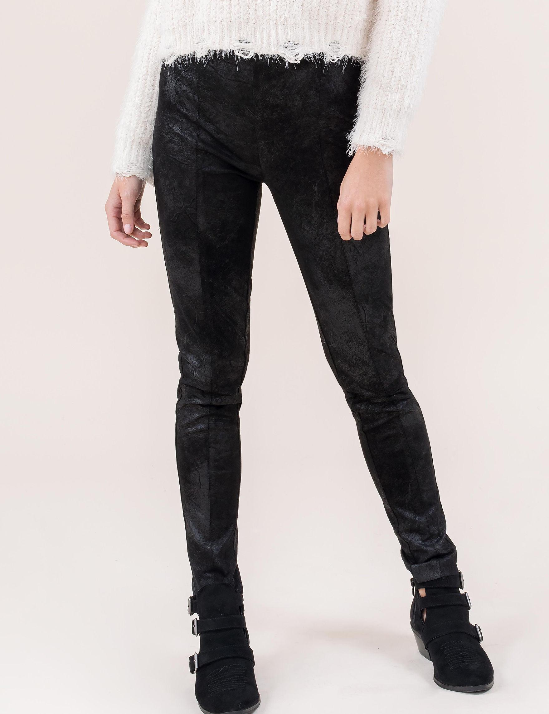 C + J Collections Black Leggings Skinny