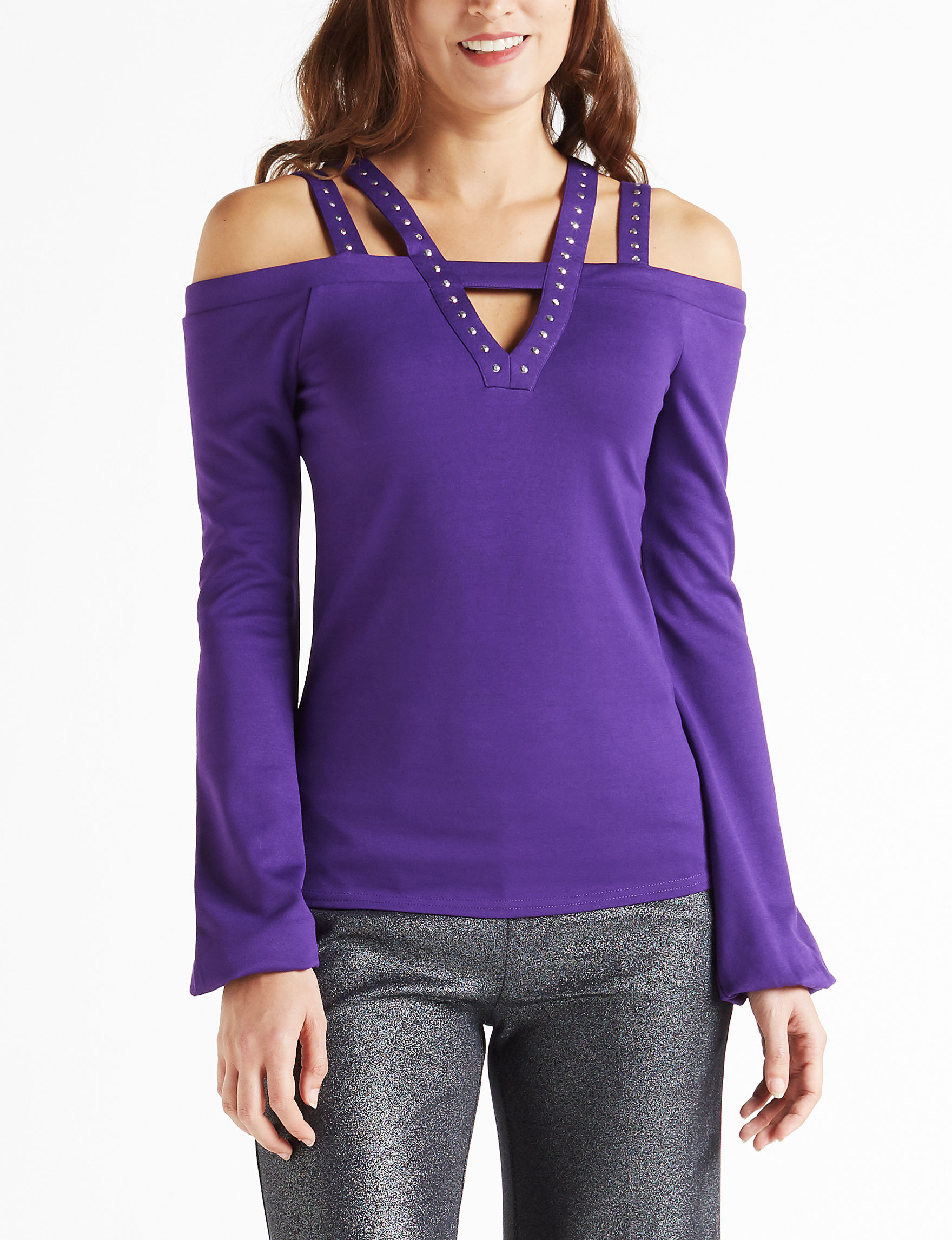 XOXO Purple Shirts & Blouses
