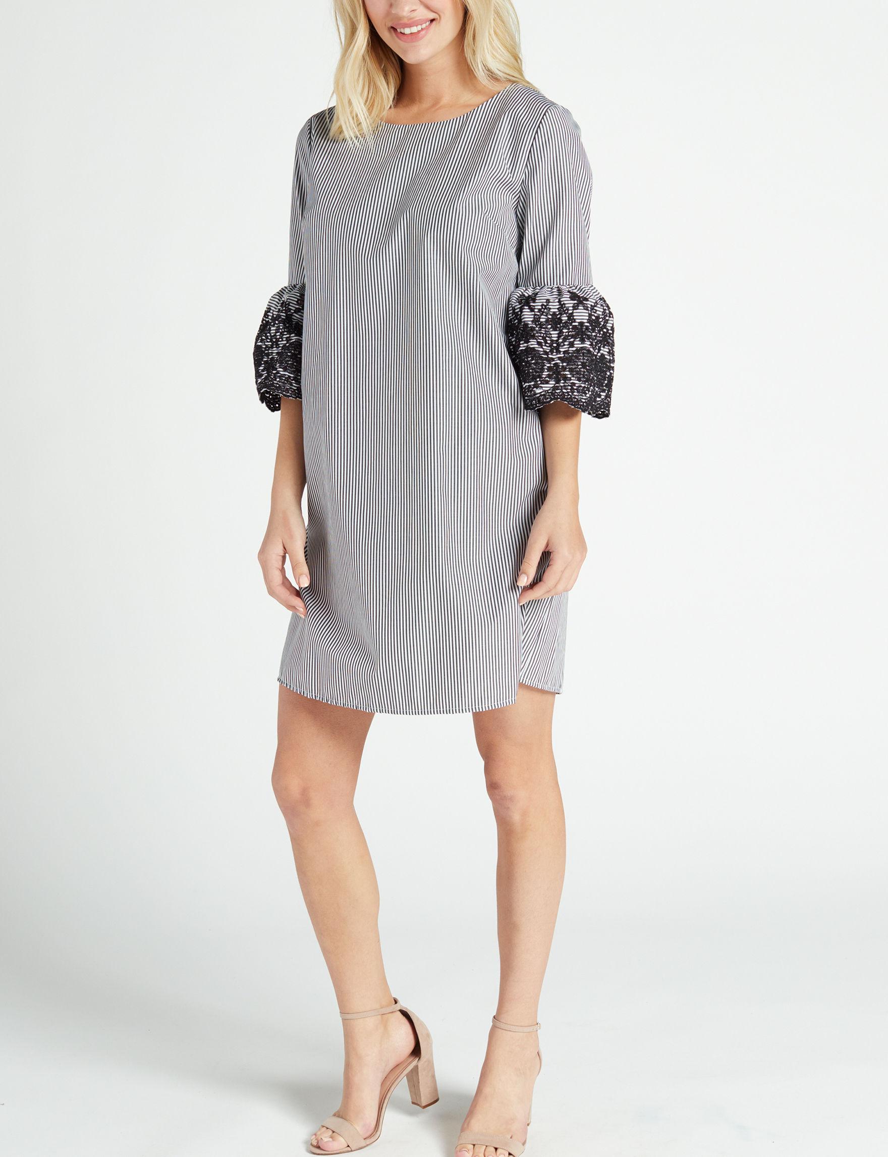 Nina Leonard Black /  White Everyday & Casual Shift Dresses