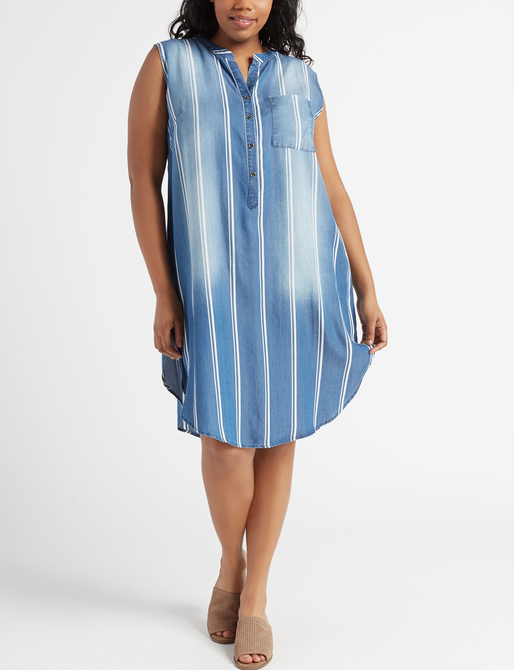 Glamour Blue Everyday & Casual Shirt Dresses