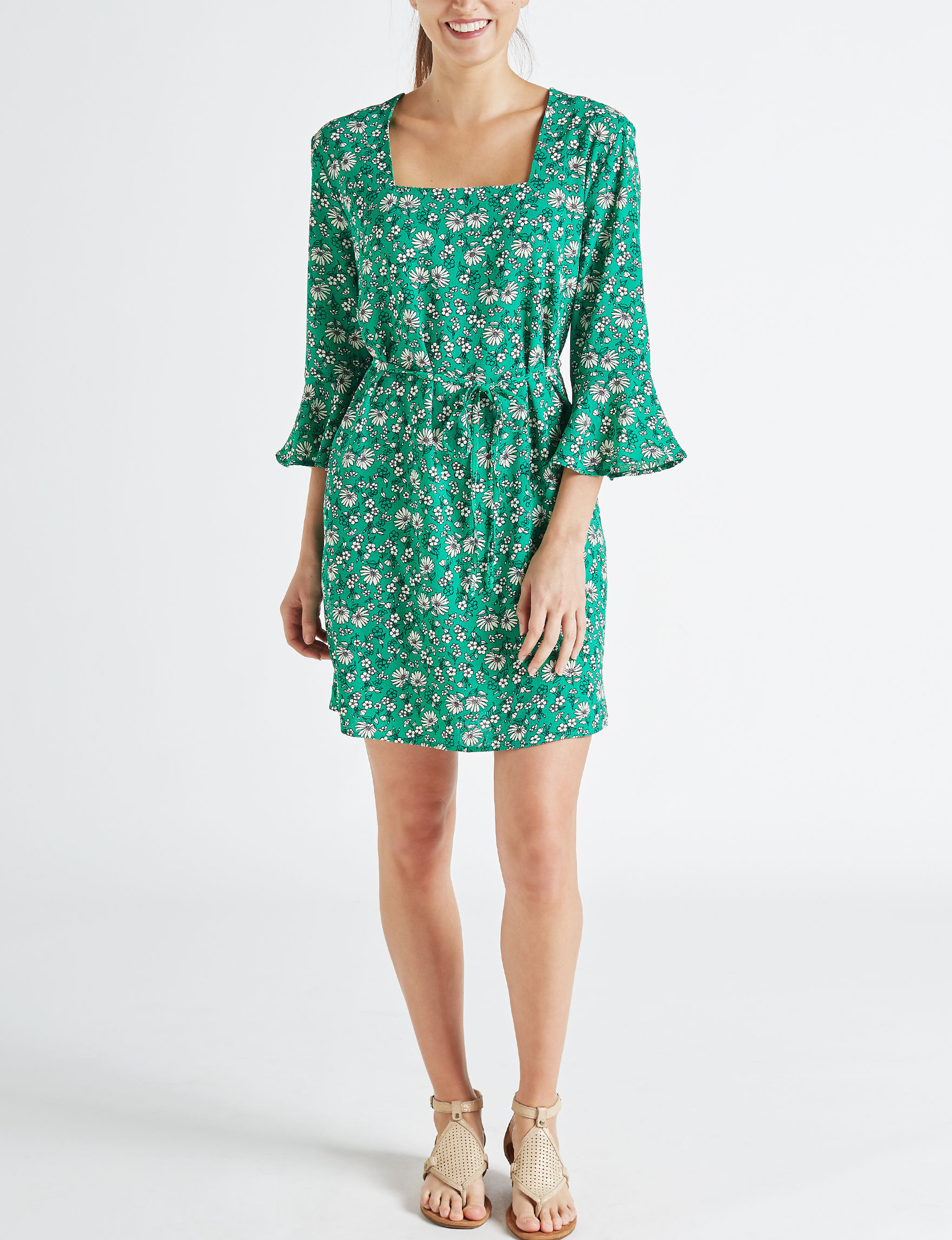 Wishful Park Green Everyday & Casual Shirt Dresses