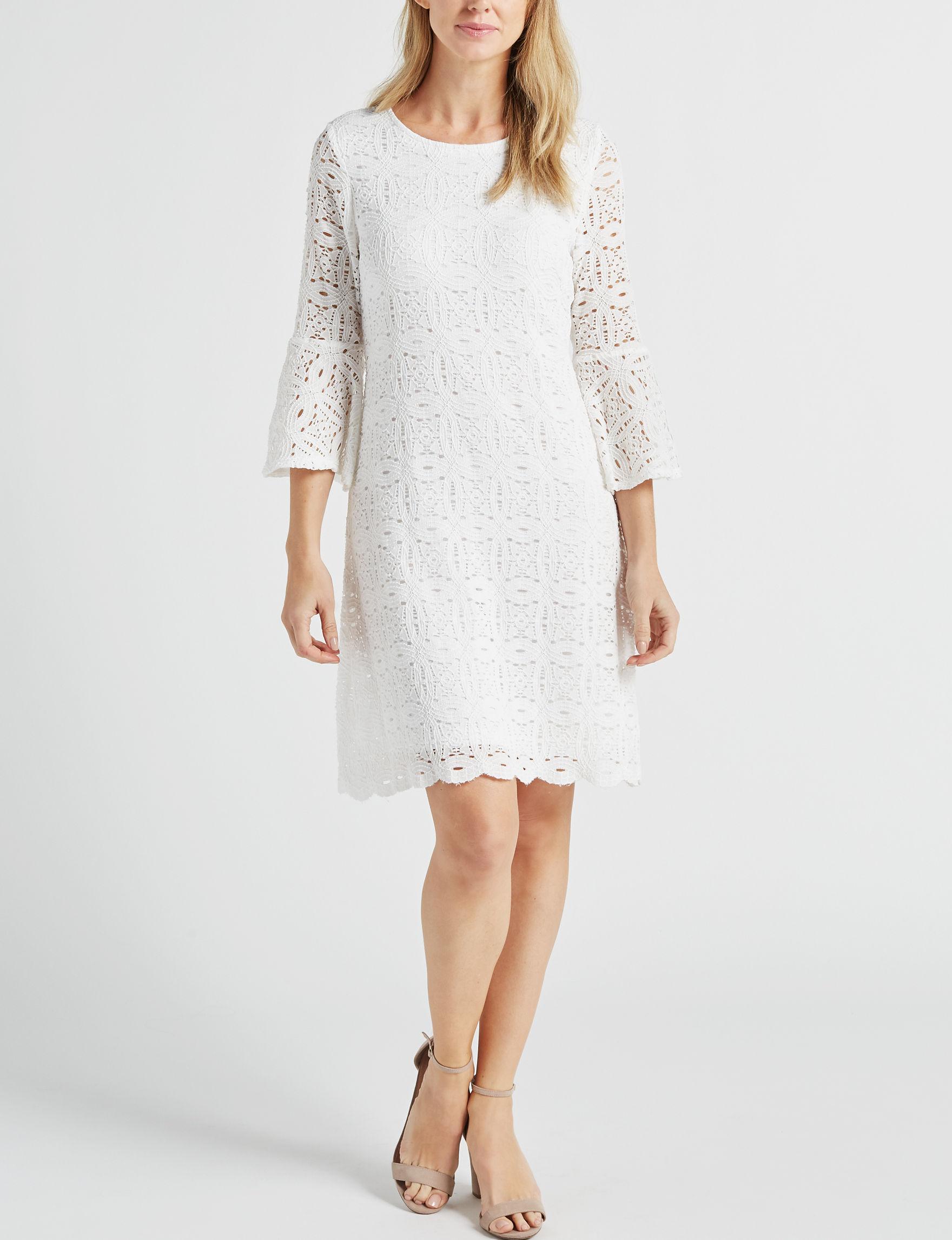 Ronni Nicole White Everyday & Casual Shift Dresses