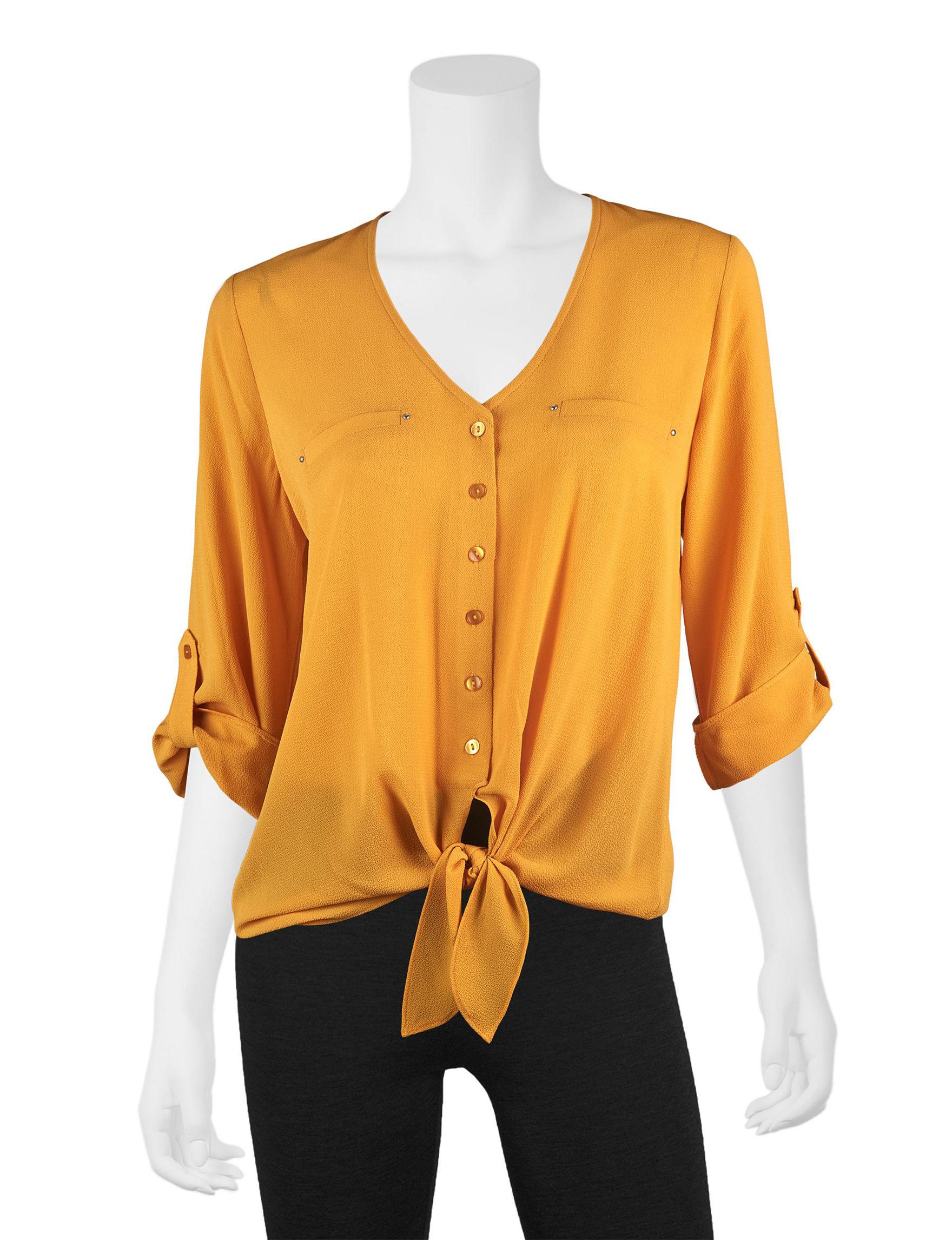 A. Byer Honey Beige Shirts & Blouses