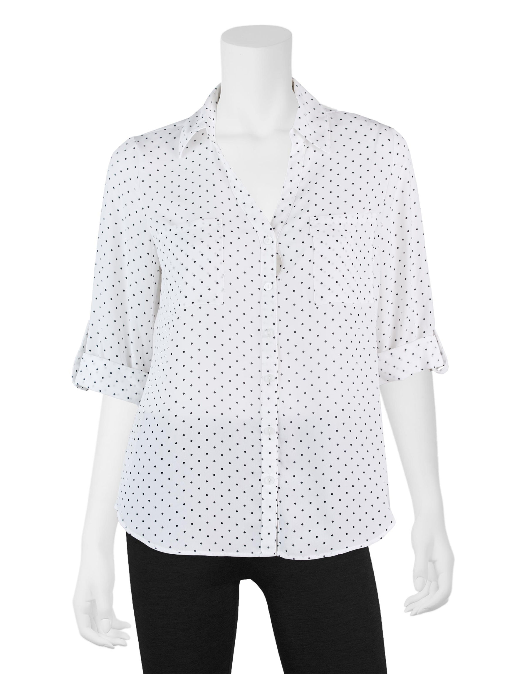 A. Byer White / Black Shirts & Blouses