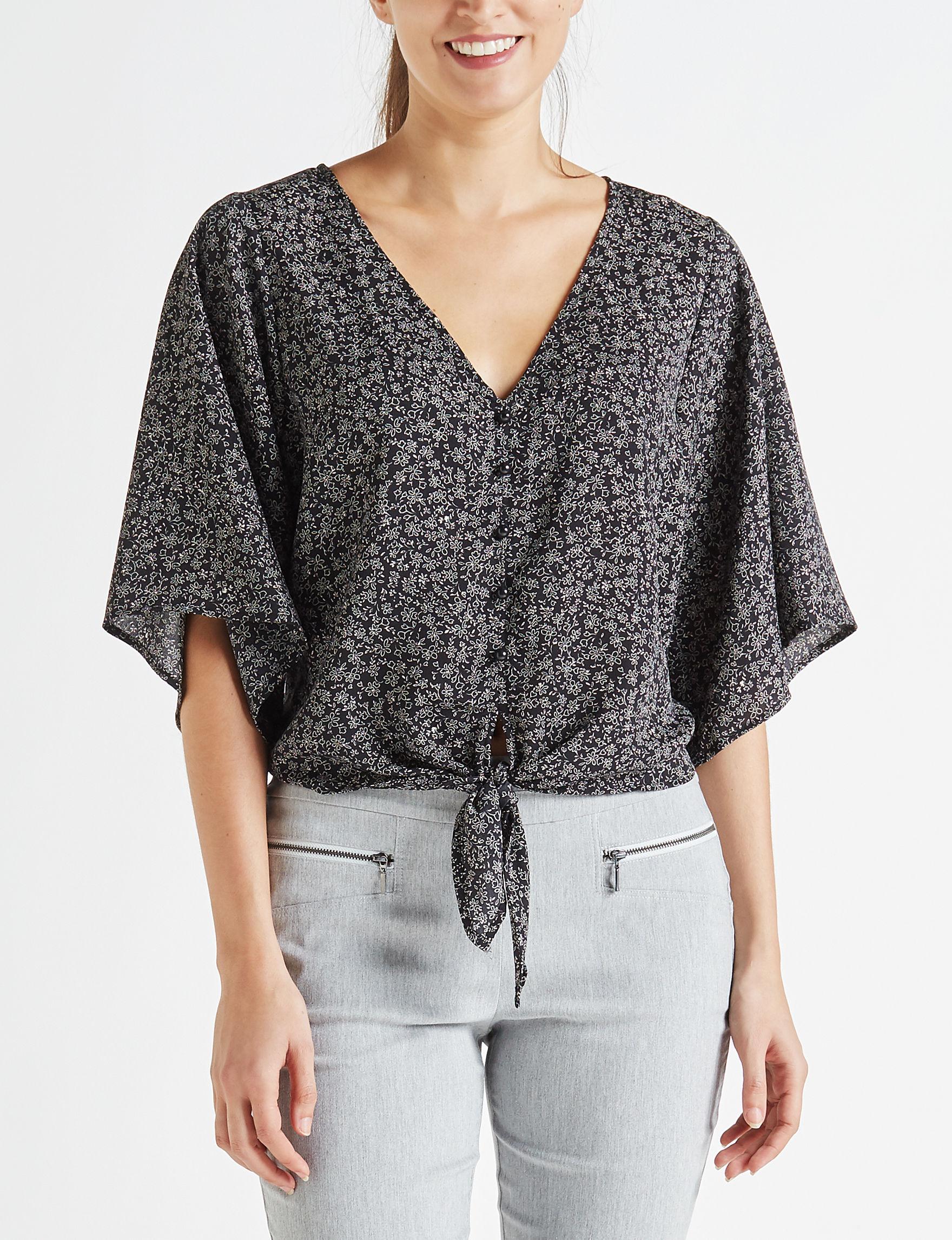 Leighton Black Shirts & Blouses