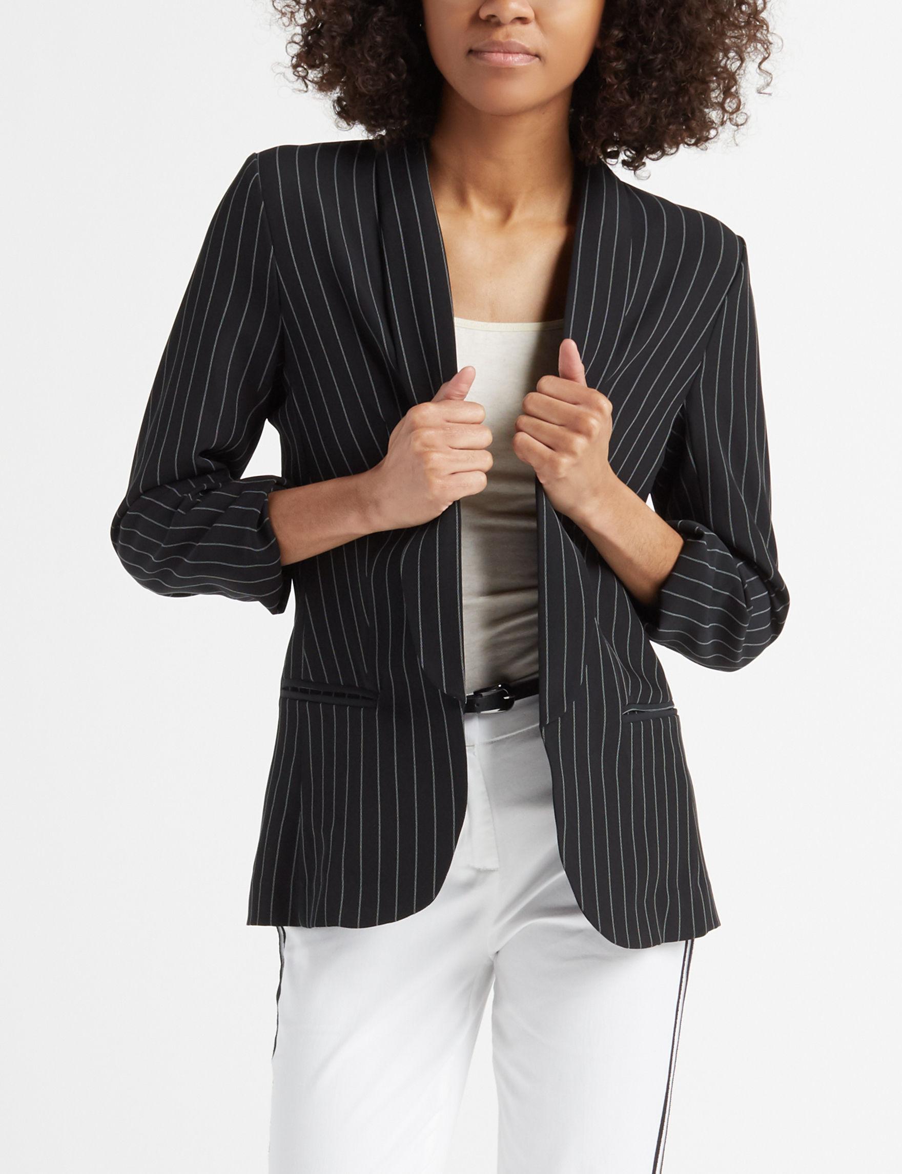 Leighton Black Stripe