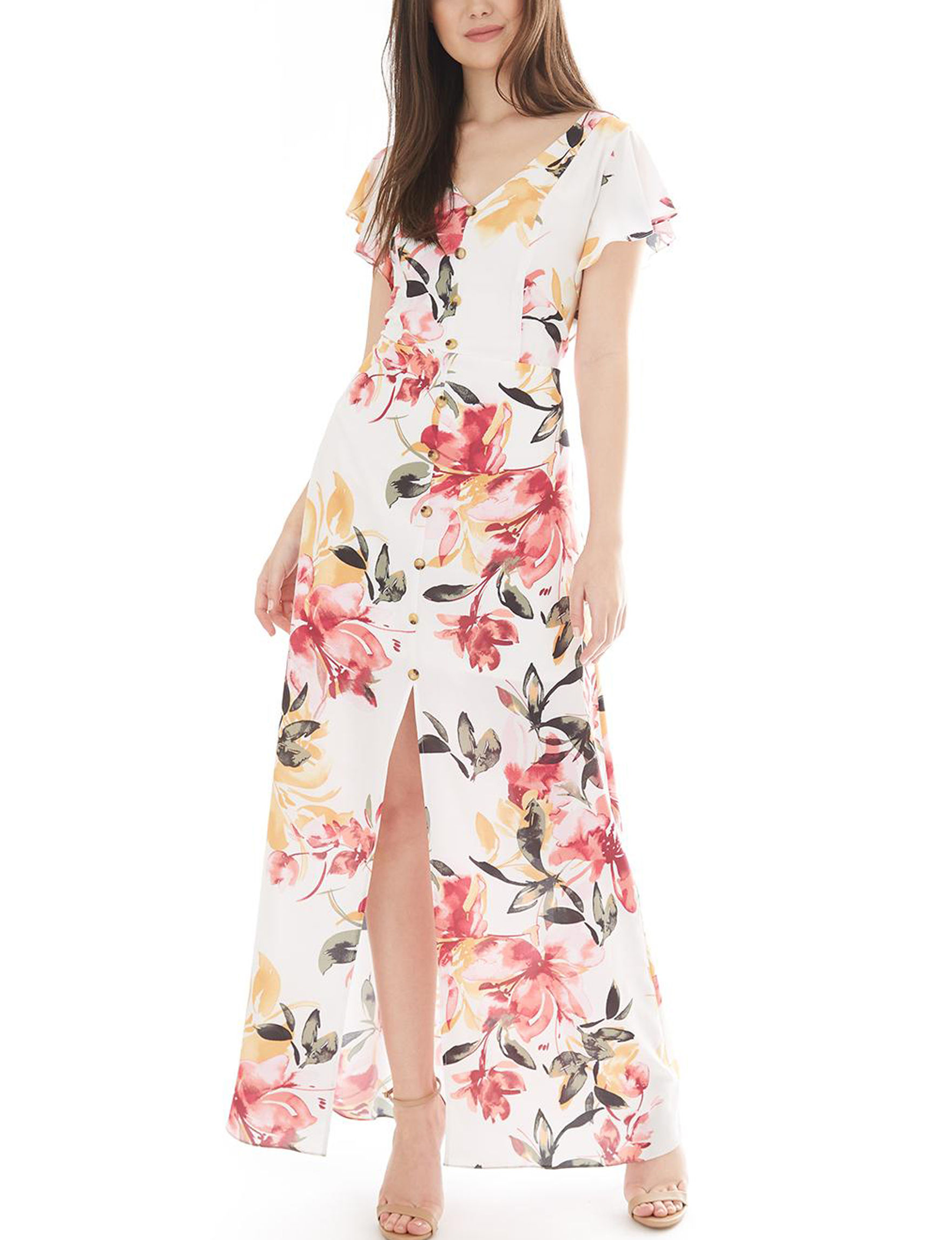 A. Byer White Everyday & Casual Maxi Dresses