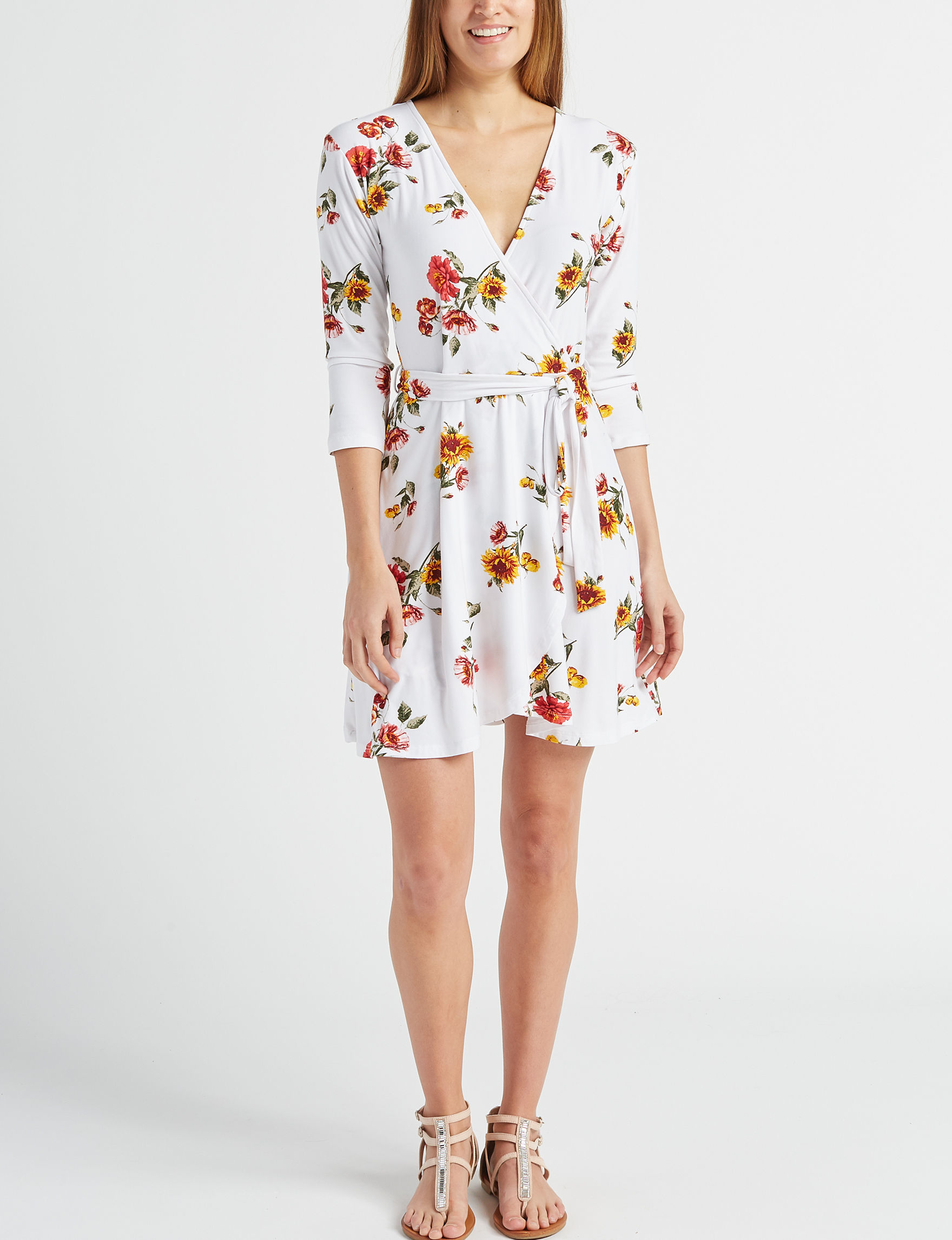 Wishful Park Ivory Everyday & Casual Fit & Flare Dresses