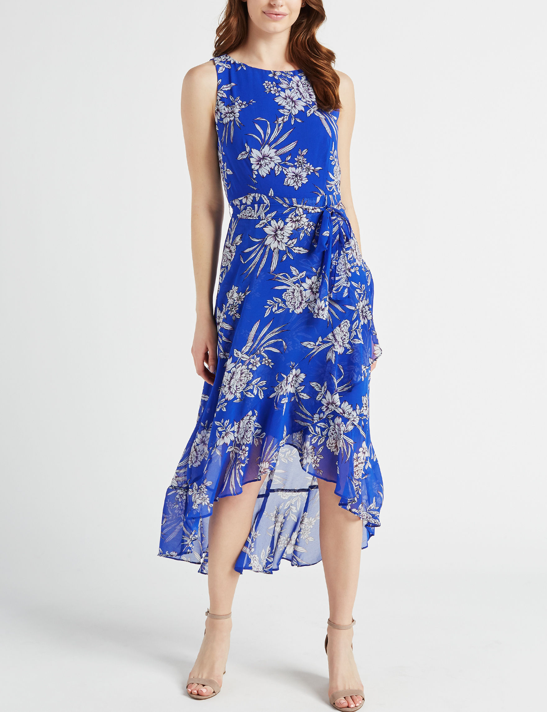 Sandra Darren Royal Blue Everyday & Casual Maxi Dresses