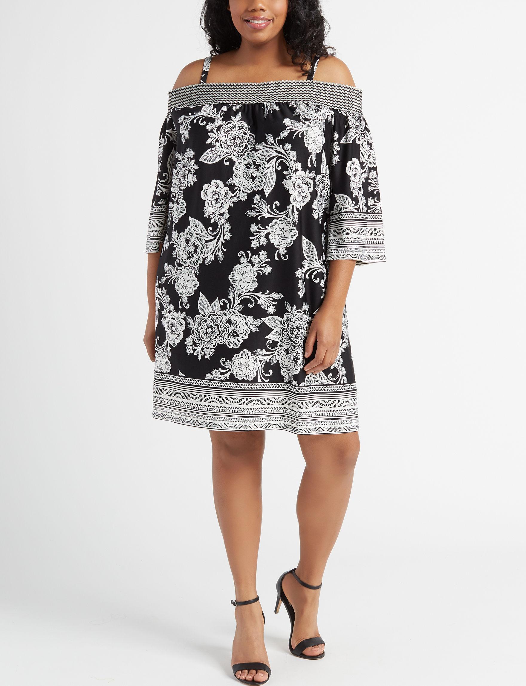 Trixxi Black Everyday & Casual Shift Dresses