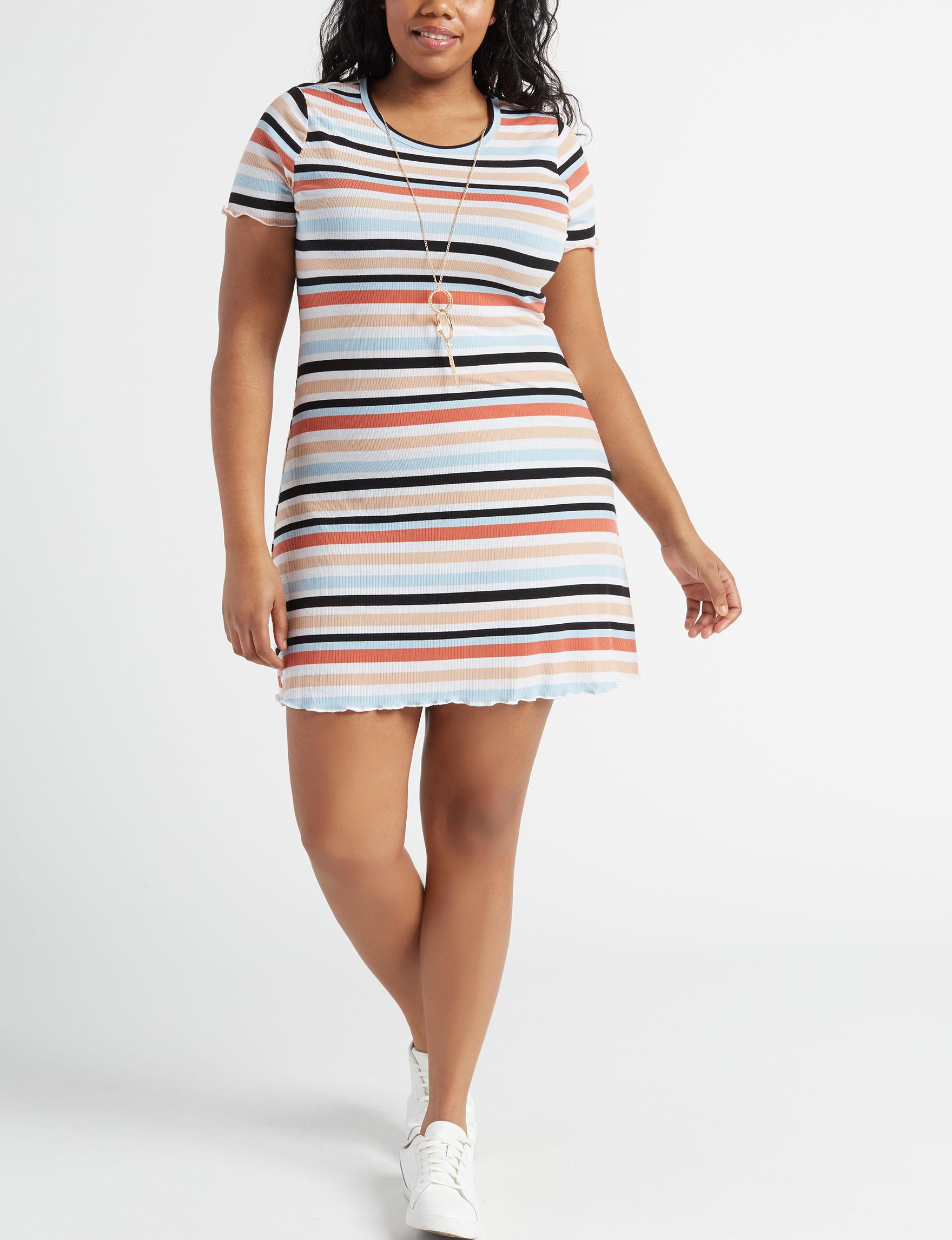 Wishful Park White Multi Everyday & Casual Shift Dresses
