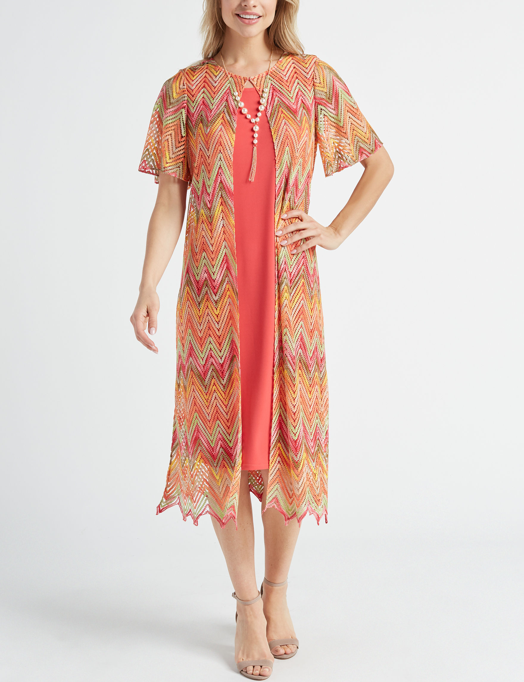 JM Studio Orange Everyday & Casual Jacket Dresses