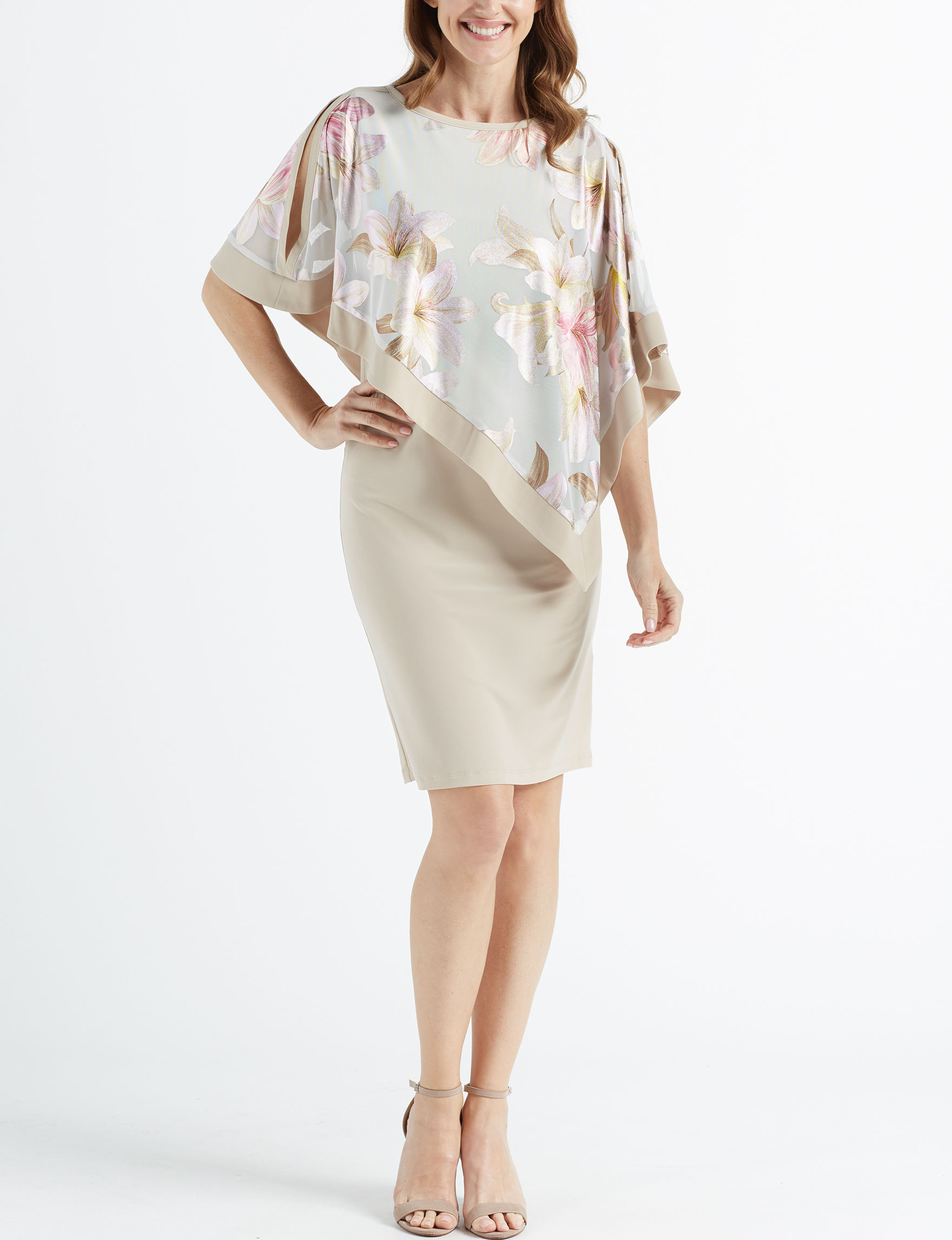 R & M Richards Champagne Everyday & Casual Jacket Dresses