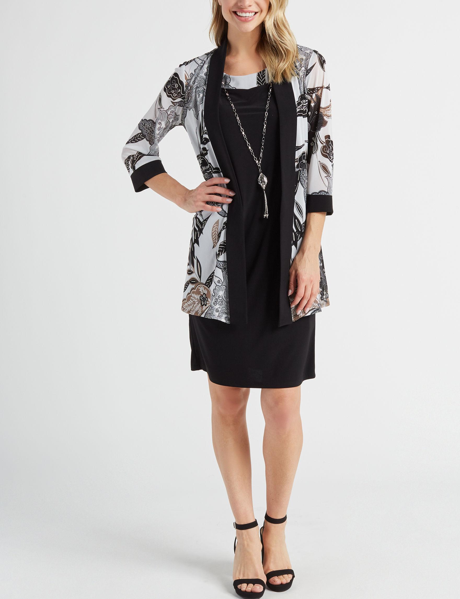 R & M Richards Navy Everyday & Casual Jacket Dresses