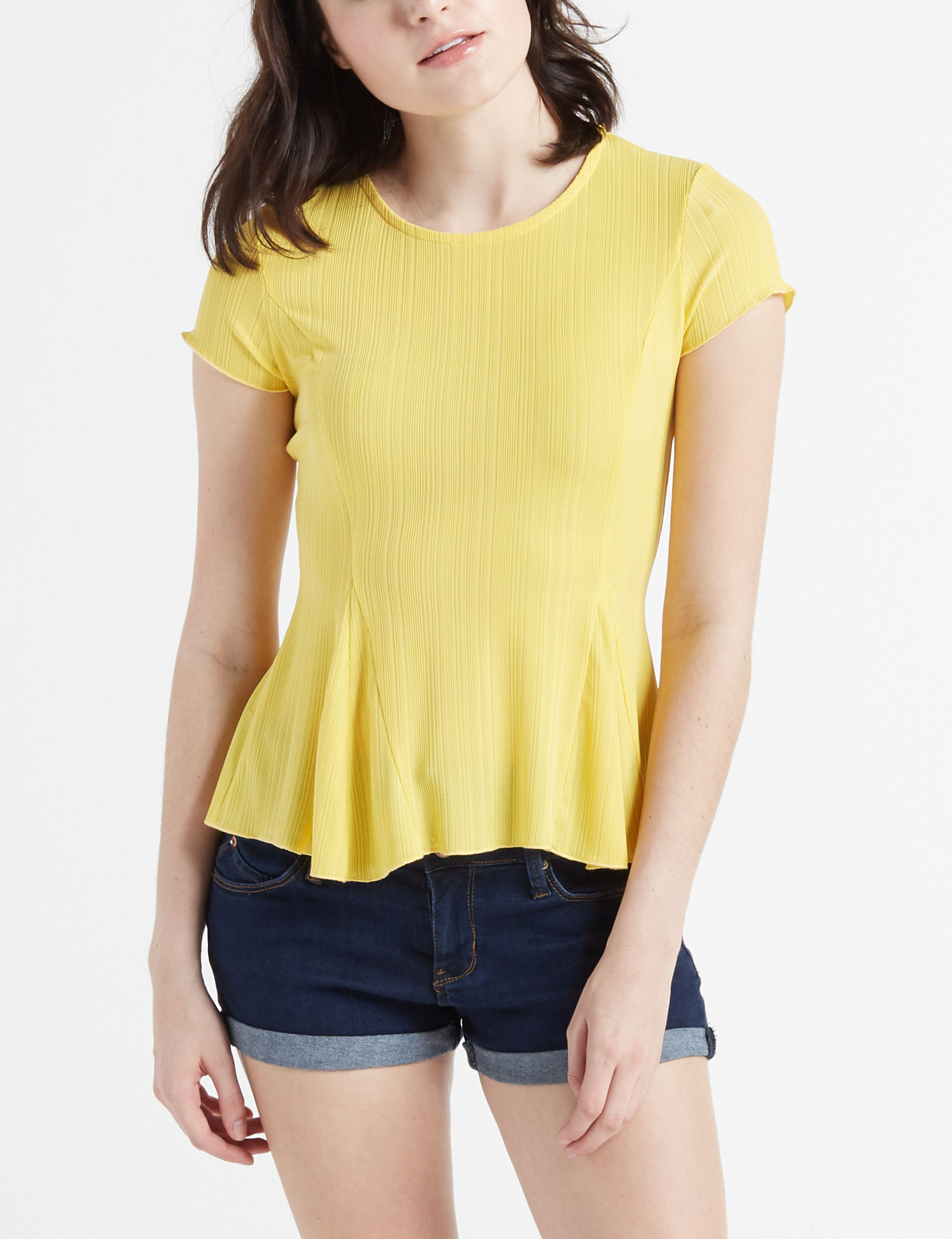 Charmed Hearts Yellow Shirts & Blouses