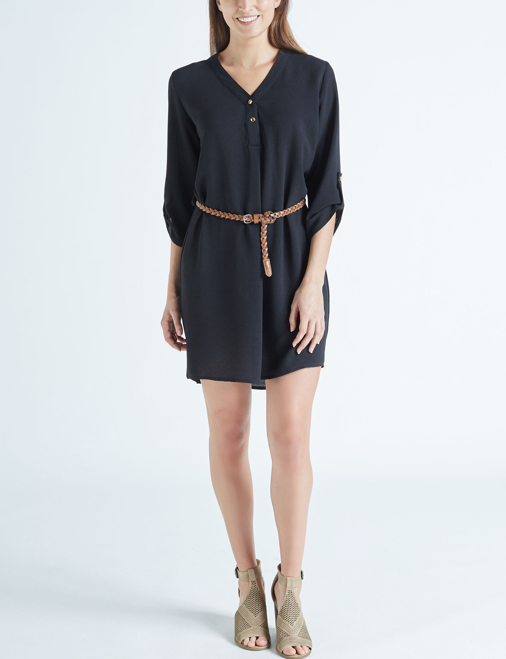 Wishful Park Black Everyday & Casual Shirt Dresses