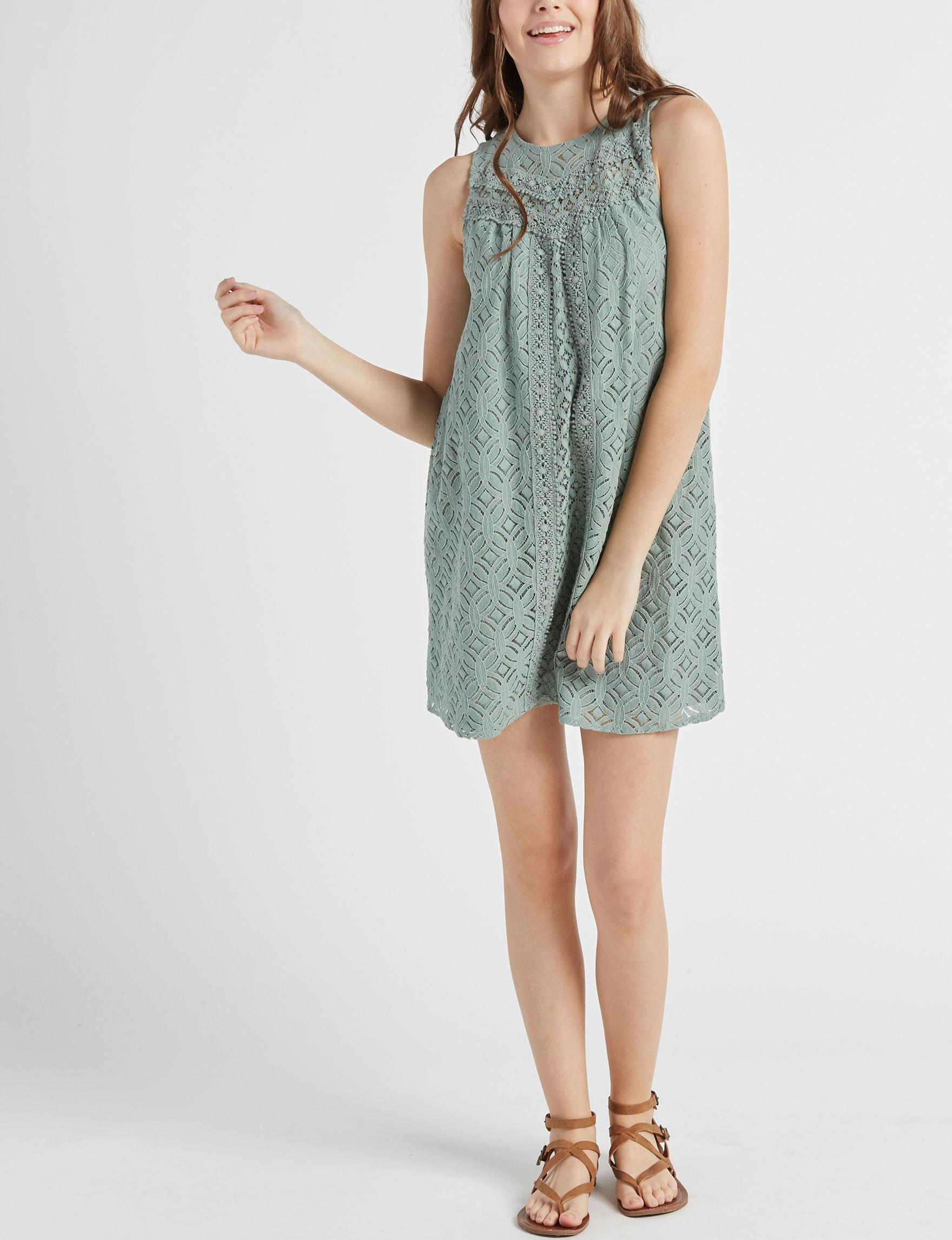 Jolt Mint Everyday & Casual Shift Dresses