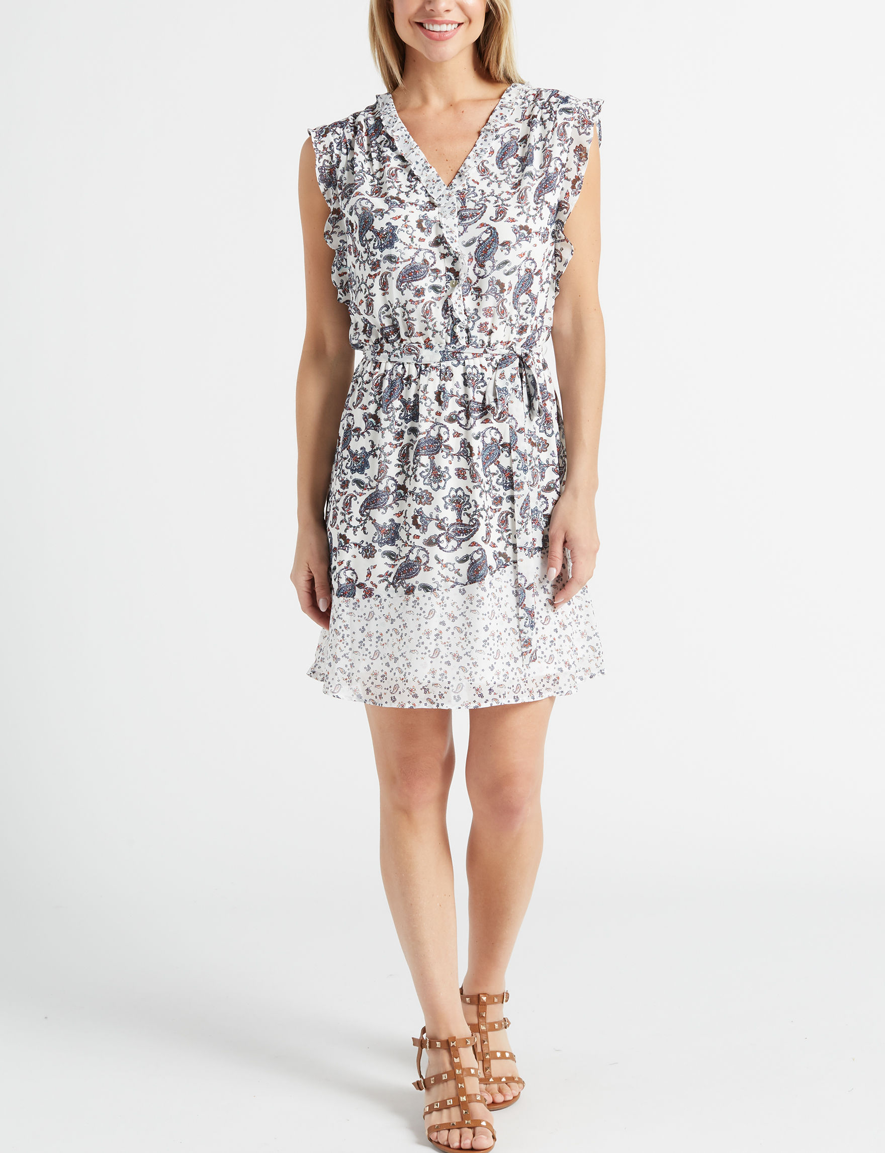 DR2 White Everyday & Casual Shift Dresses