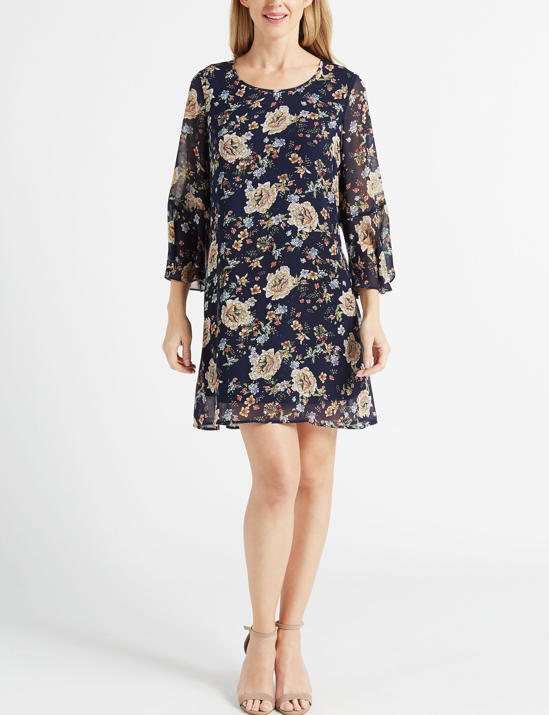 DR2 Navy Everyday & Casual Shift Dresses