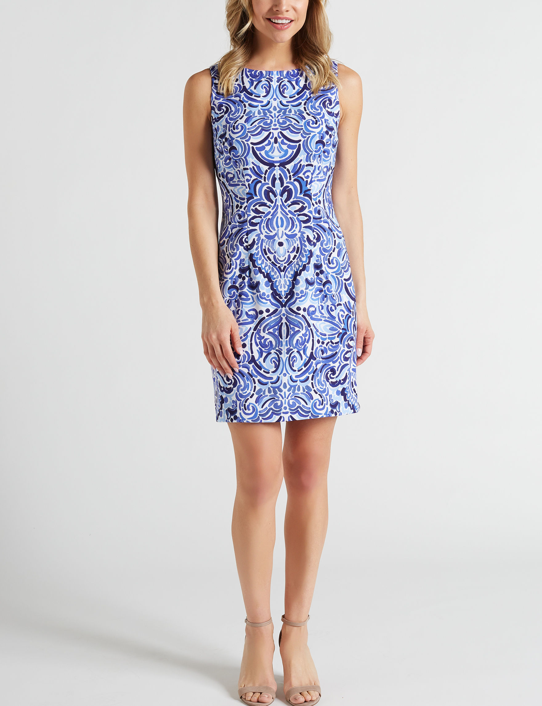 AGB Navy Everyday & Casual Sheath Dresses