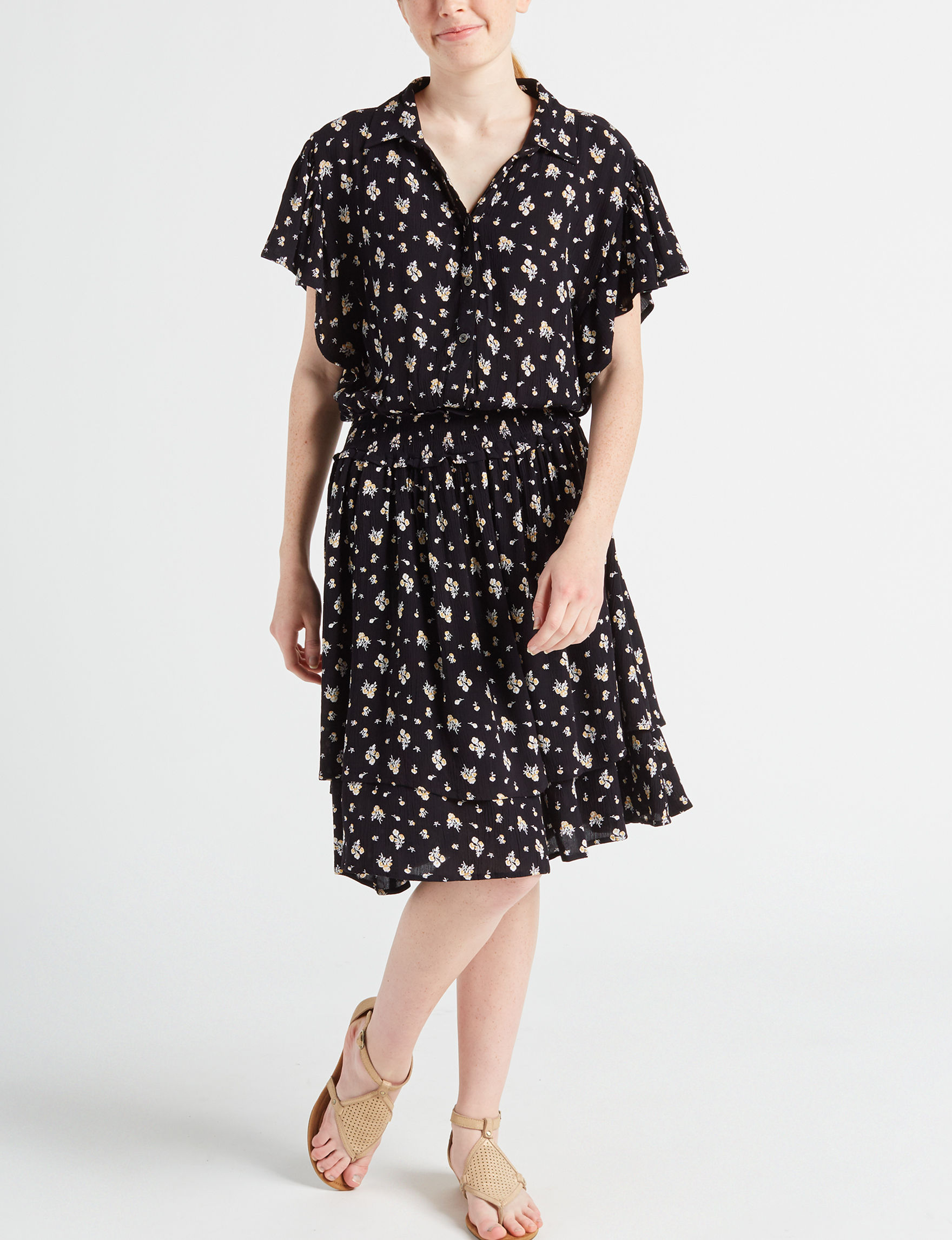 C&C California Black Everyday & Casual A-line Dresses