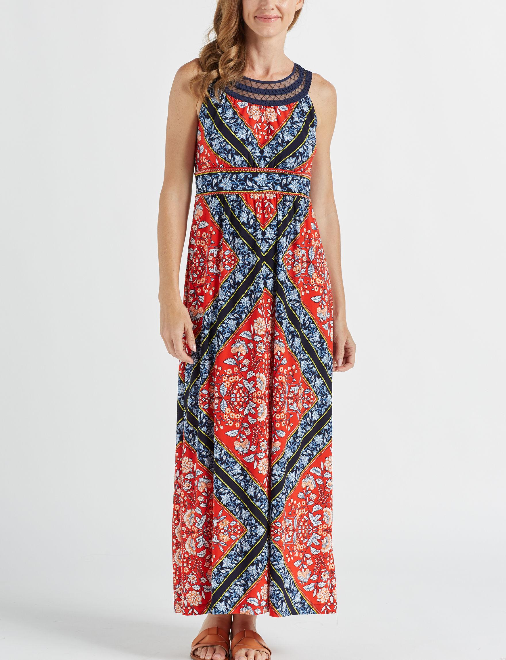 Sandra Darren Orange Everyday & Casual Maxi Dresses