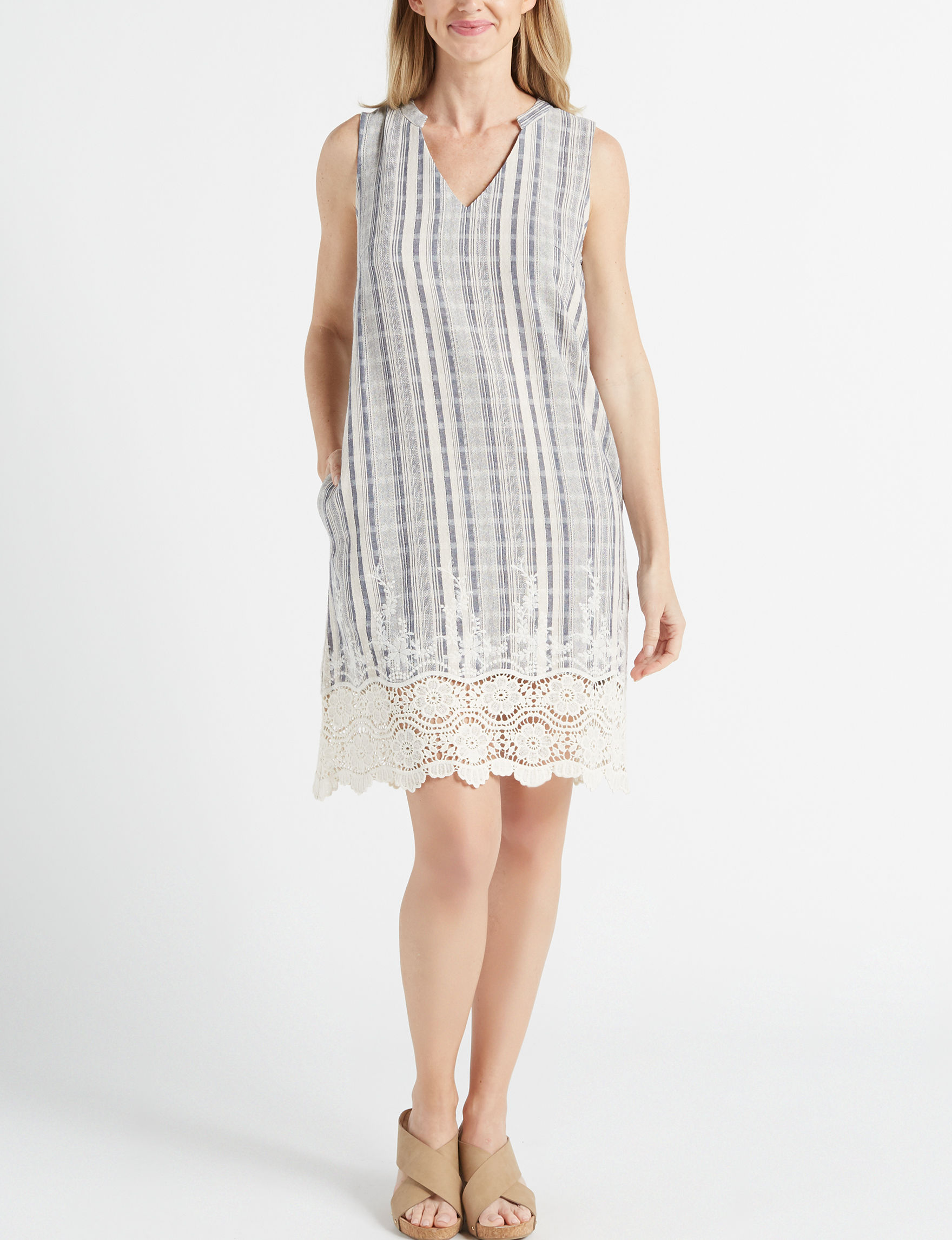 Sharagano Beige Everyday & Casual Shift Dresses