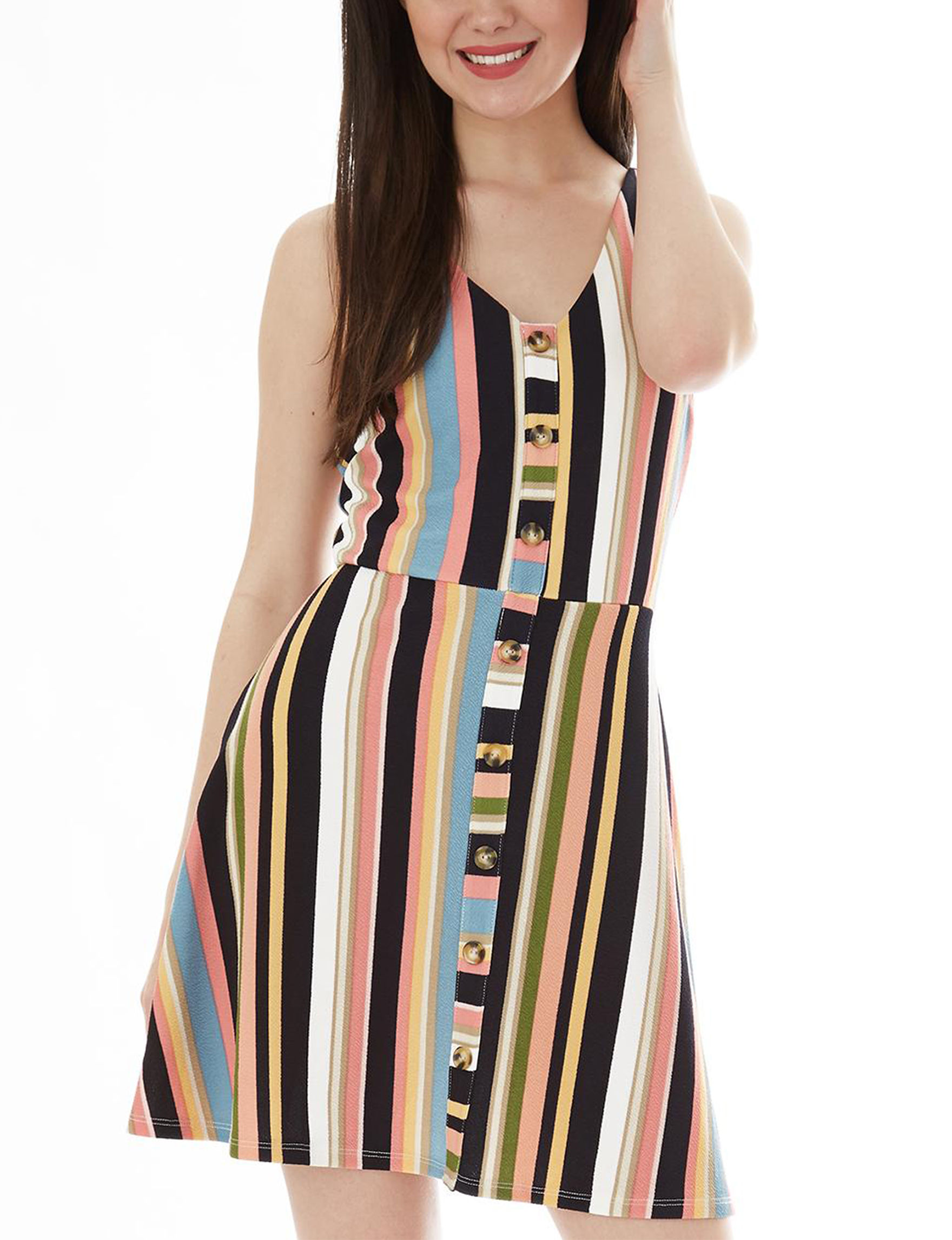 A. Byer Black Multi Everyday & Casual Sheath Dresses