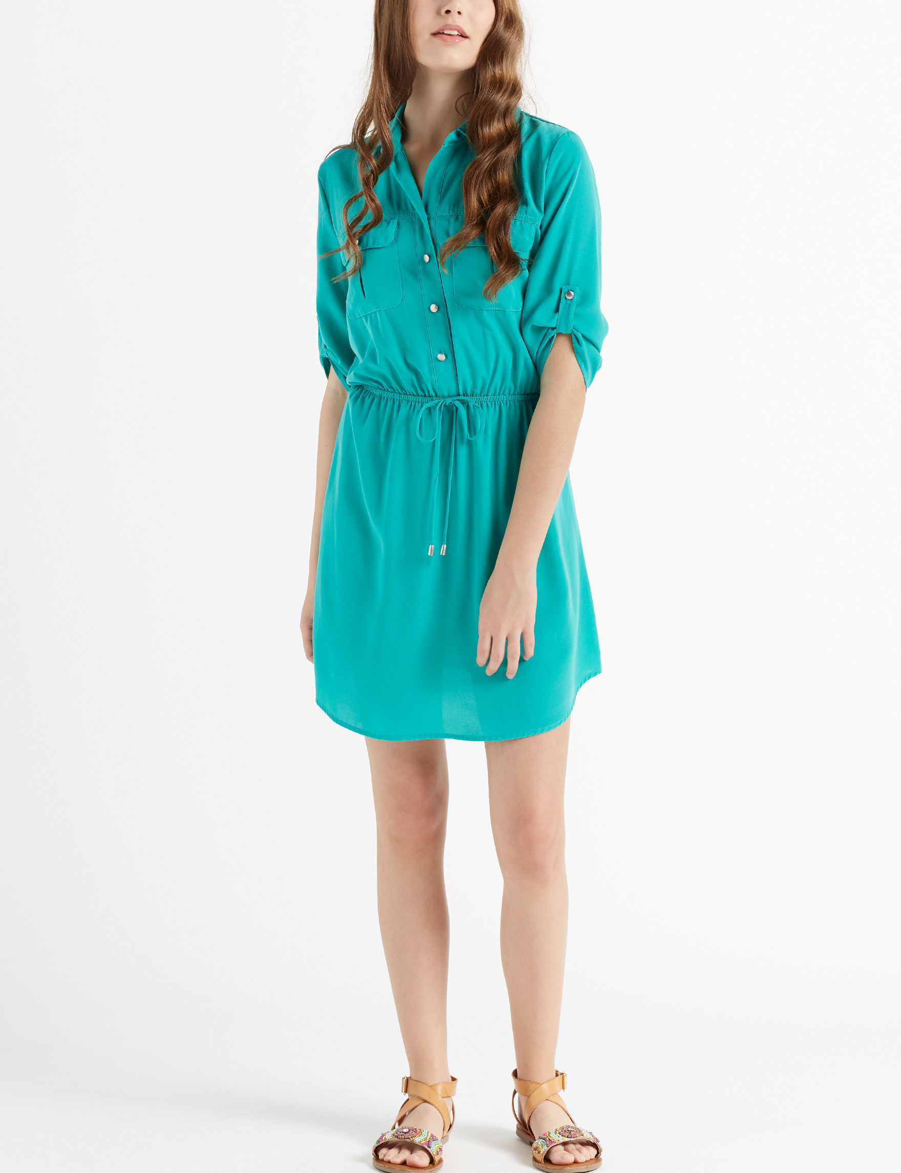 BeBop Green Everyday & Casual Shirt Dresses