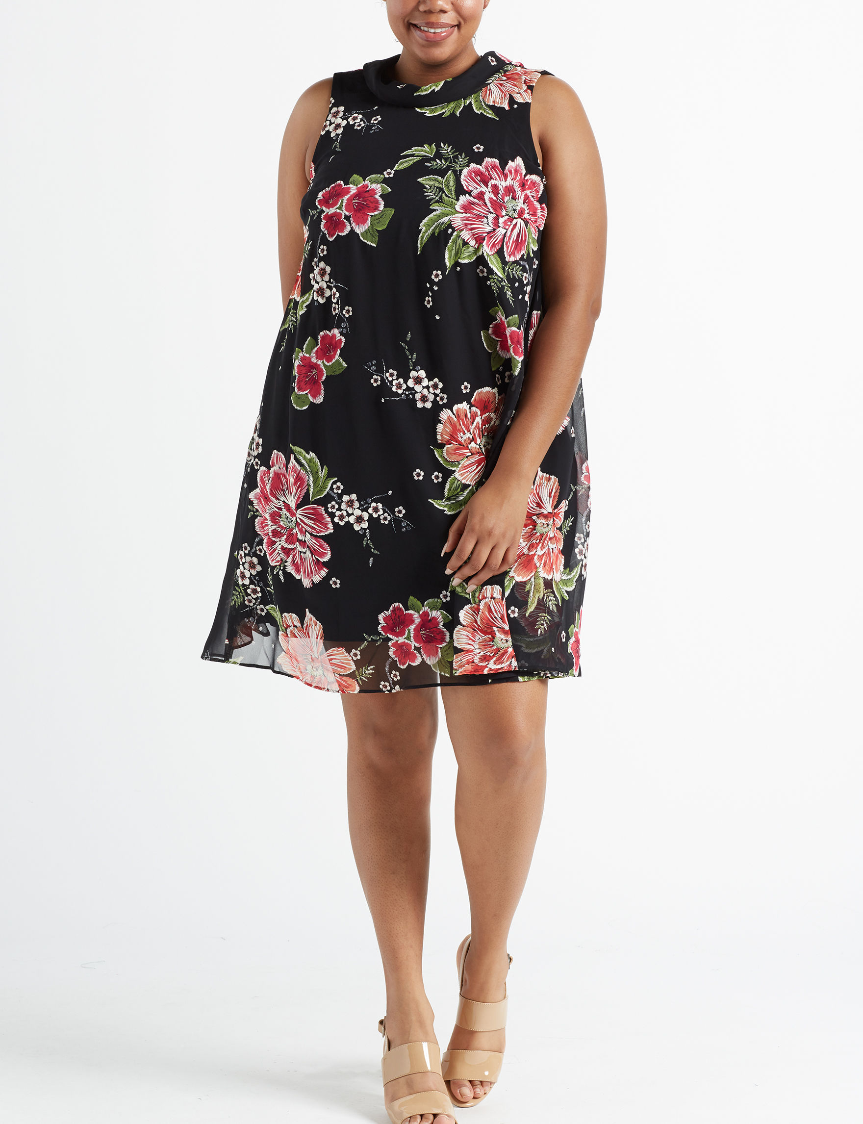 Robbie Bee Black Everyday & Casual Shift Dresses