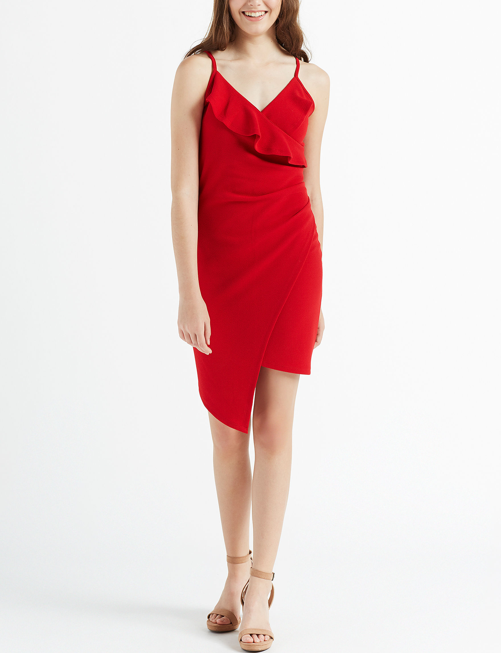 Almost Famous Red Cocktail & Party Evening & Formal Bodycon Dresses