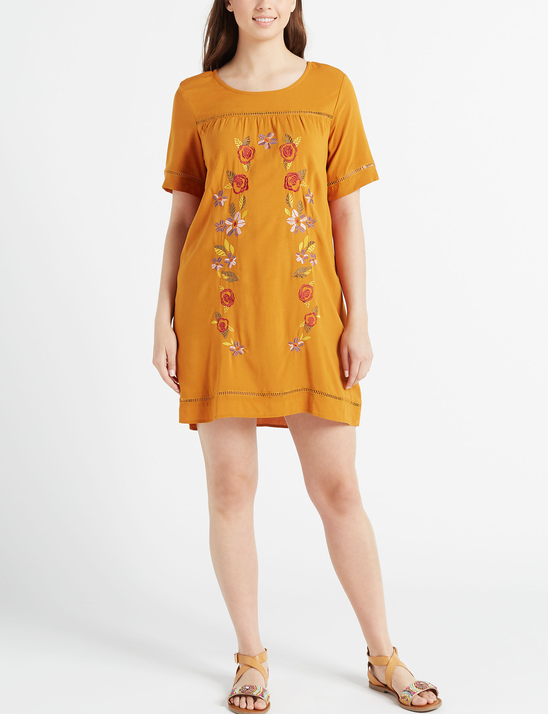 Love Fire Brown Everyday & Casual Shift Dresses