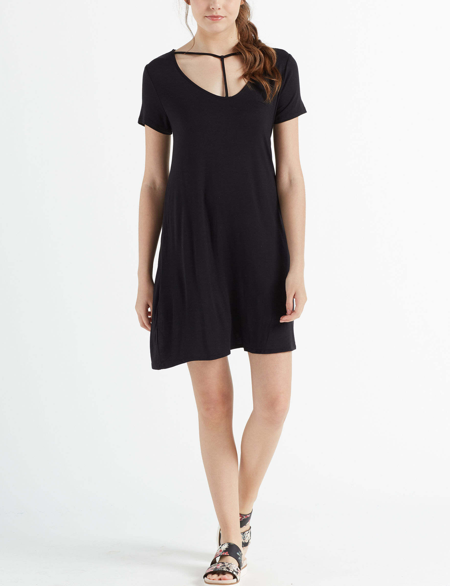 Love Fire Black Everyday & Casual Shift Dresses