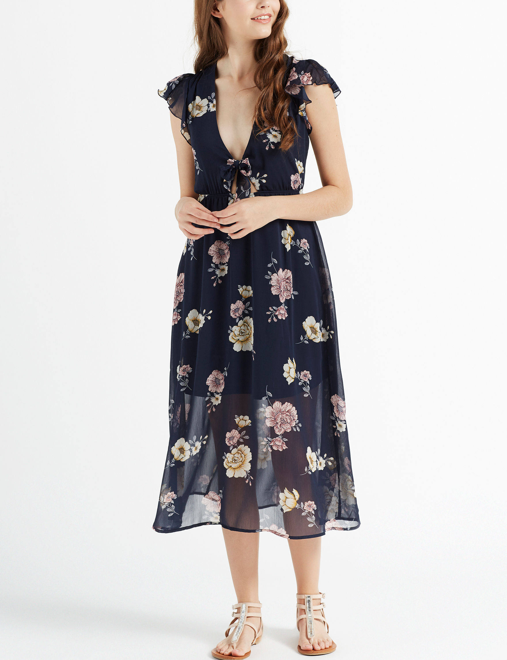 Love Fire Navy Everyday & Casual A-line Dresses