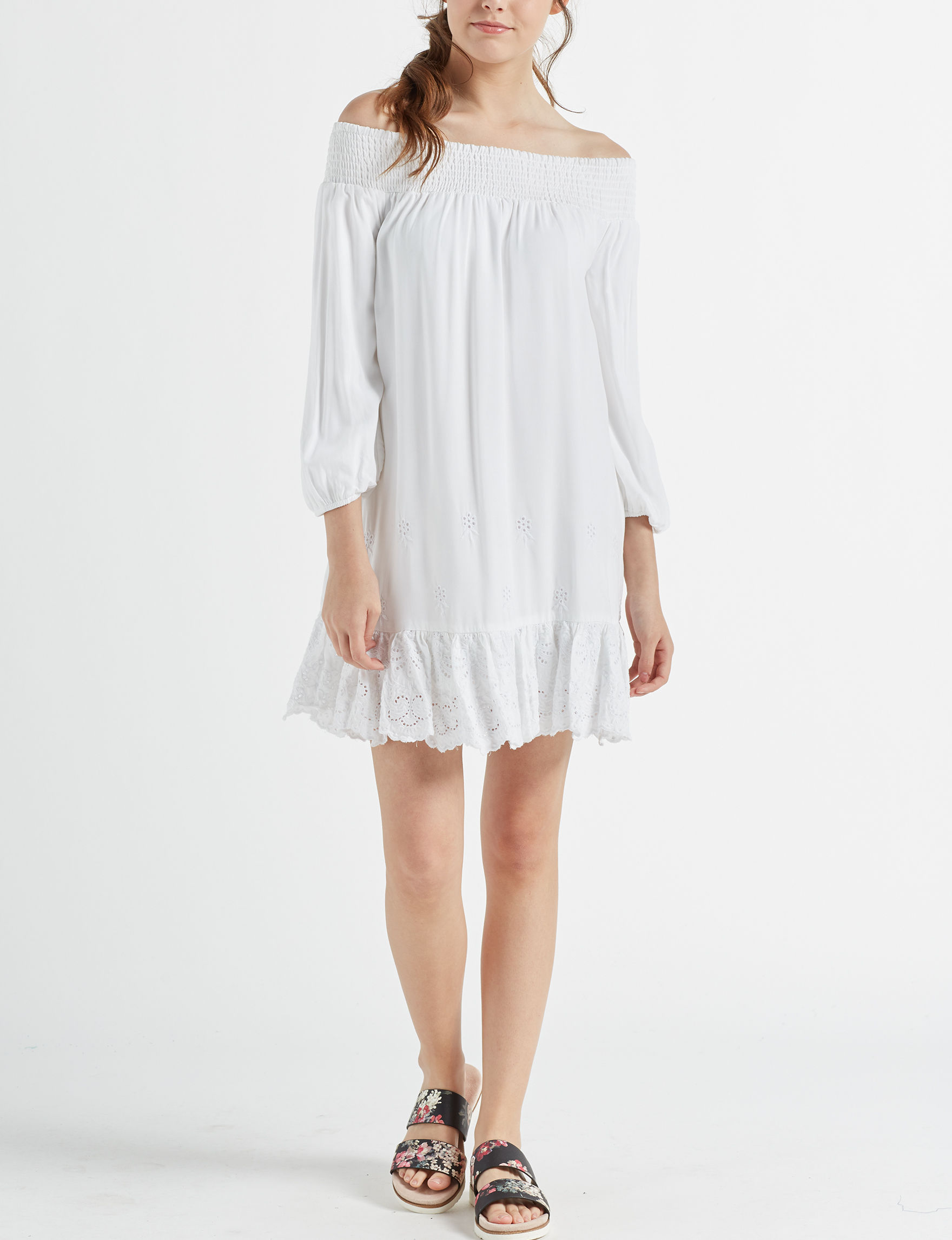 Love Fire Ivory Everyday & Casual Shift Dresses
