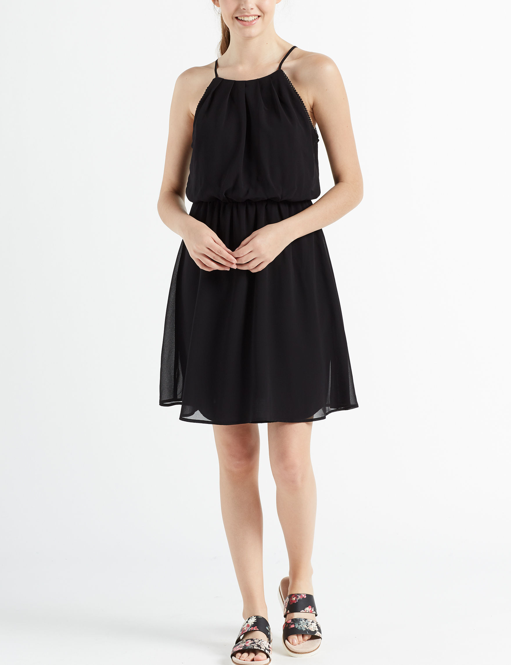 Wishful Park Black Everyday & Casual Fit & Flare Dresses