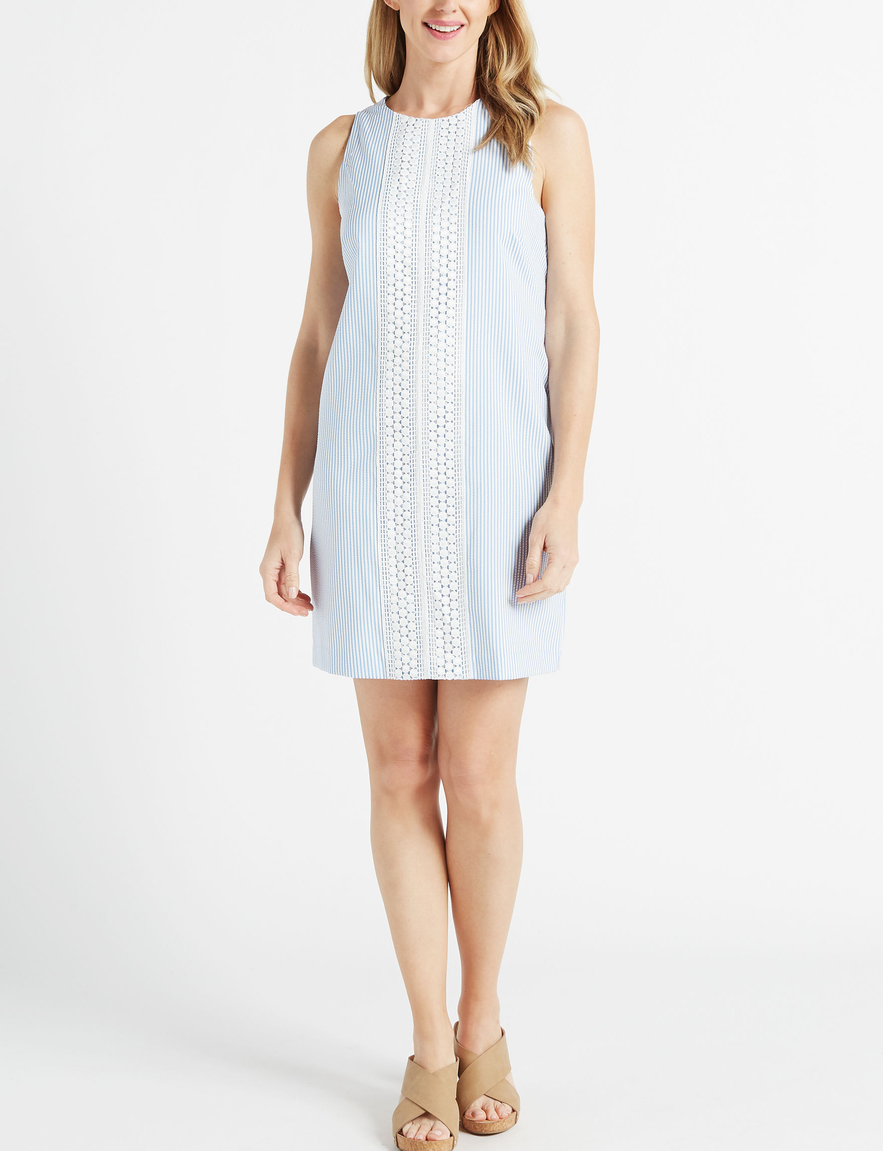 London Times White Everyday & Casual Shift Dresses